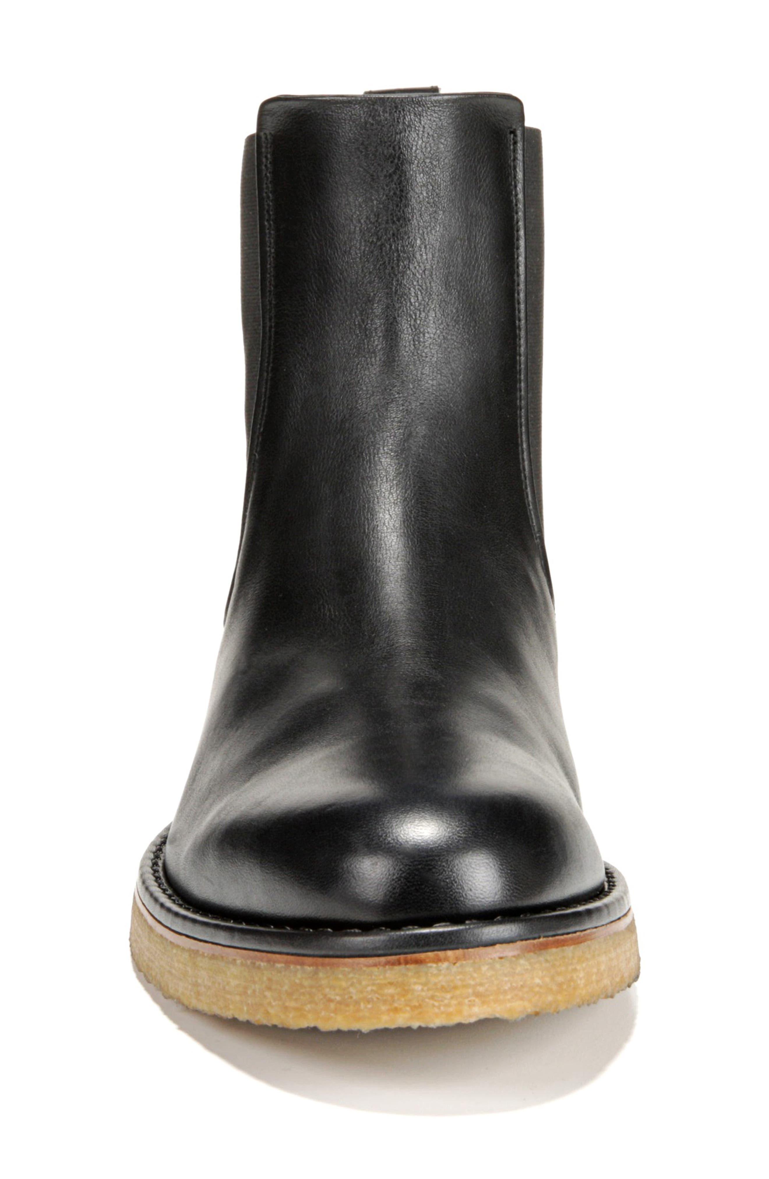 Cresslor Chelsea Boot,                             Alternate thumbnail 4, color,                             BLACK