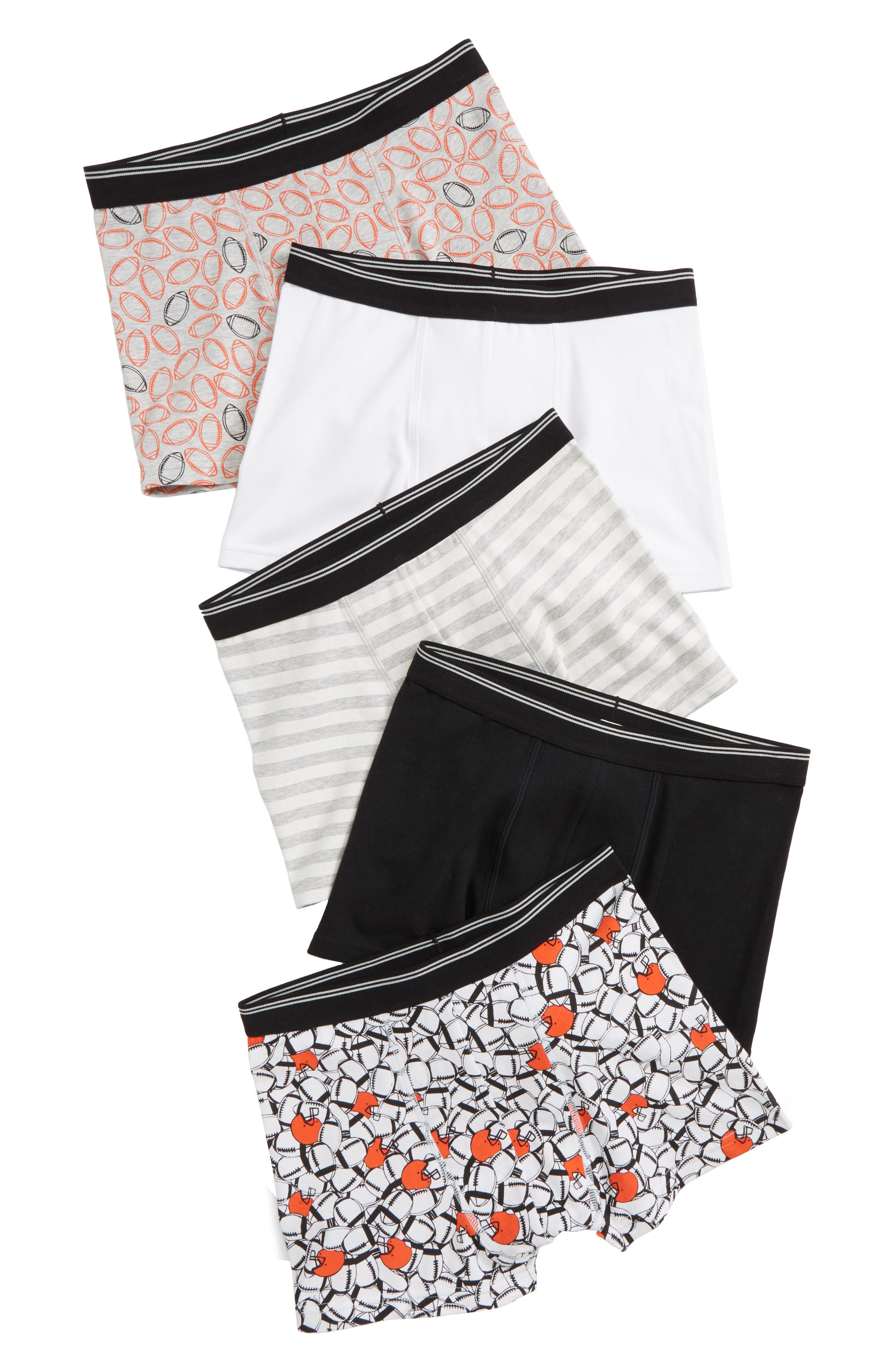 5-Pack Trunks,                         Main,                         color, FOOTBALL PACK