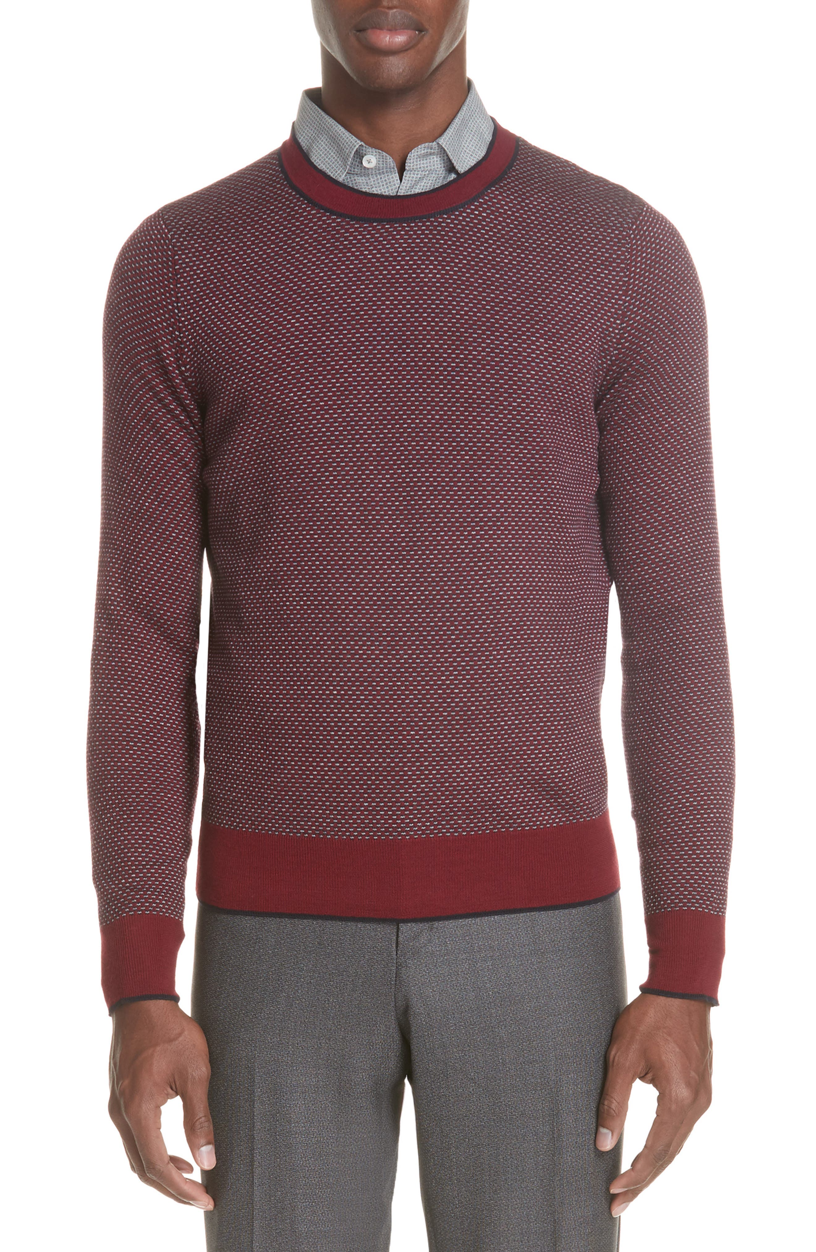 Crewneck Wool Sweater,                         Main,                         color, 600