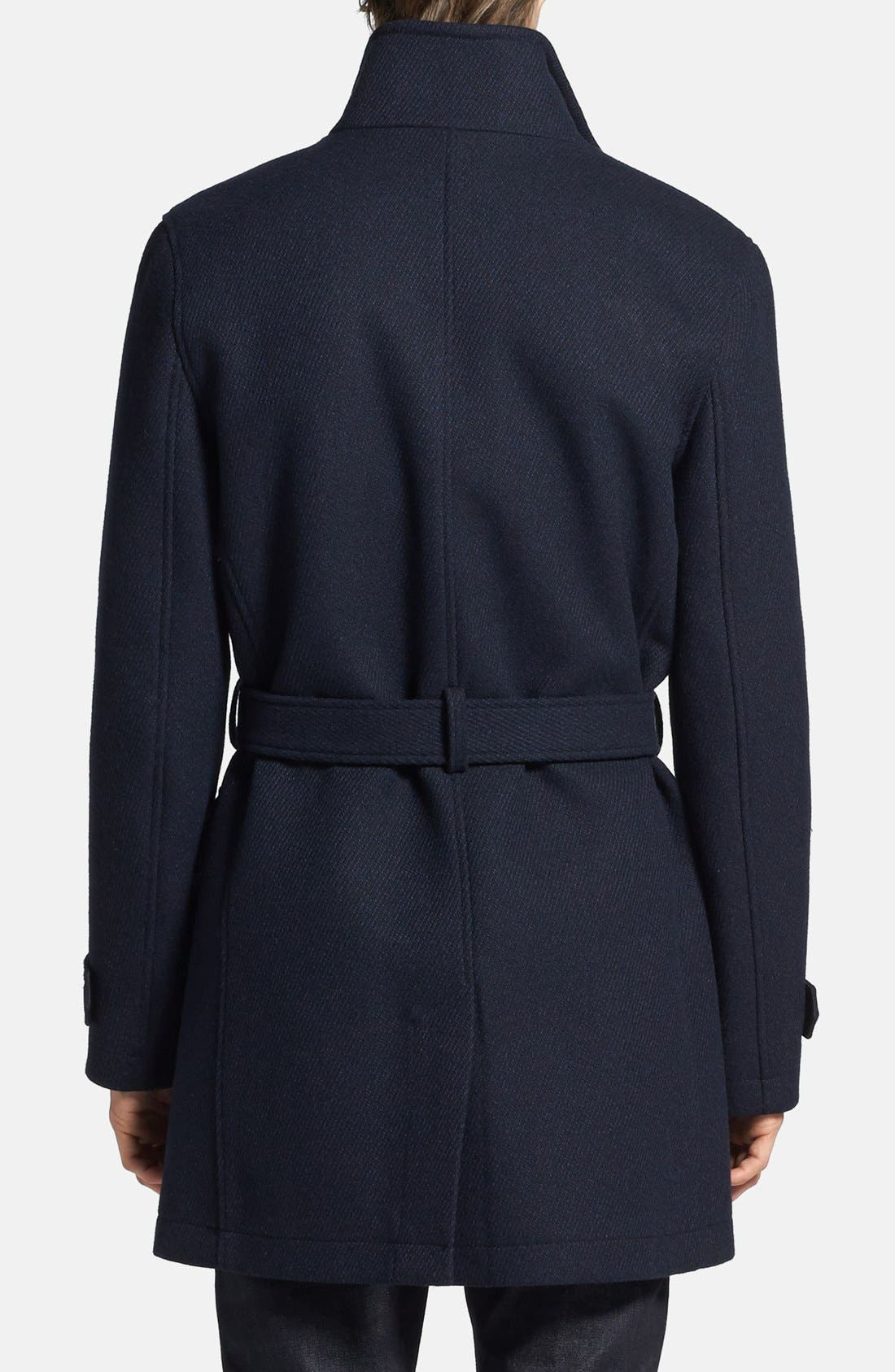 Double Breasted Wool Blend Trench Coat,                             Alternate thumbnail 6, color,                             410