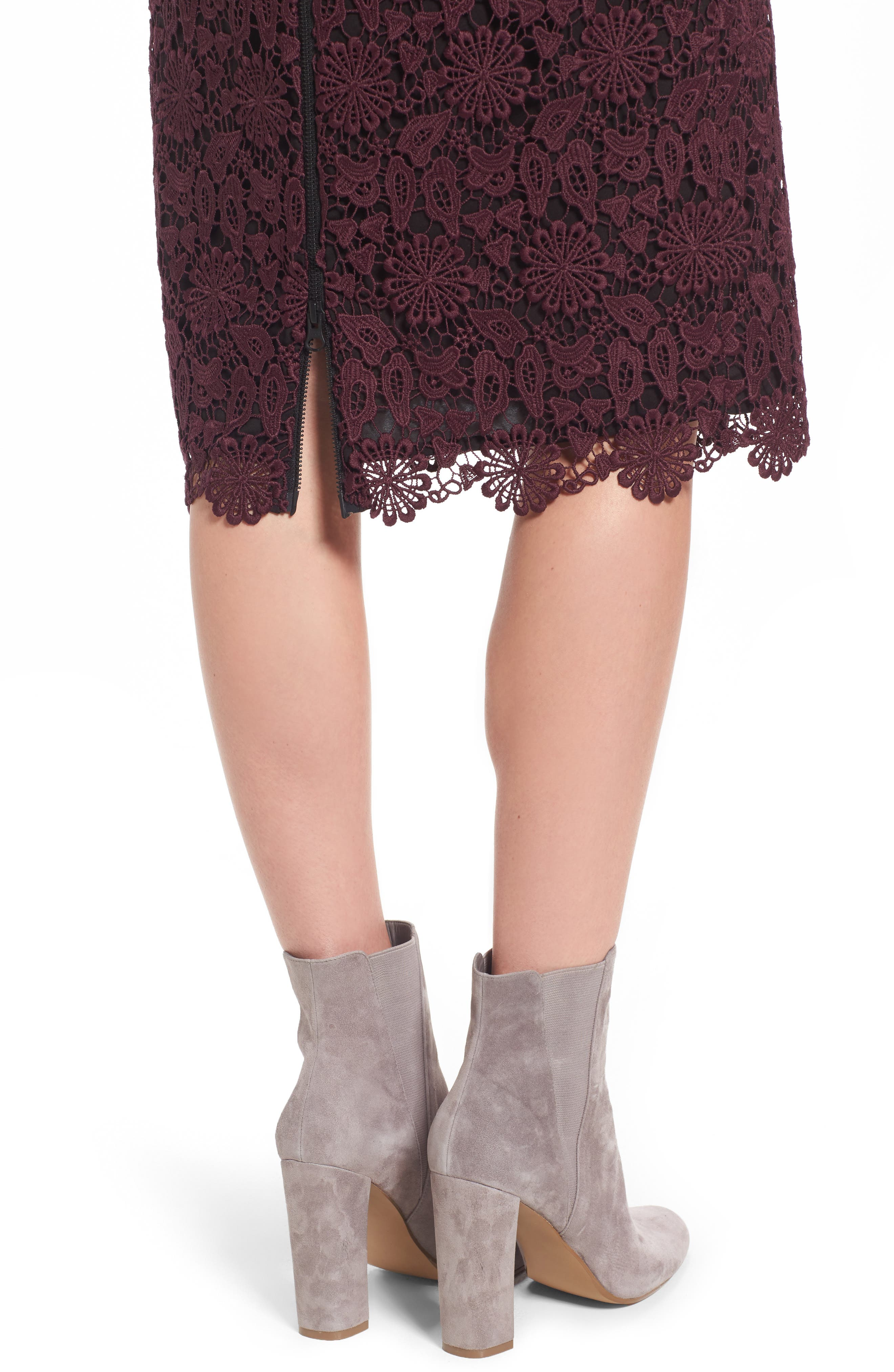 Lace Pencil Skirt,                             Alternate thumbnail 4, color,                             930