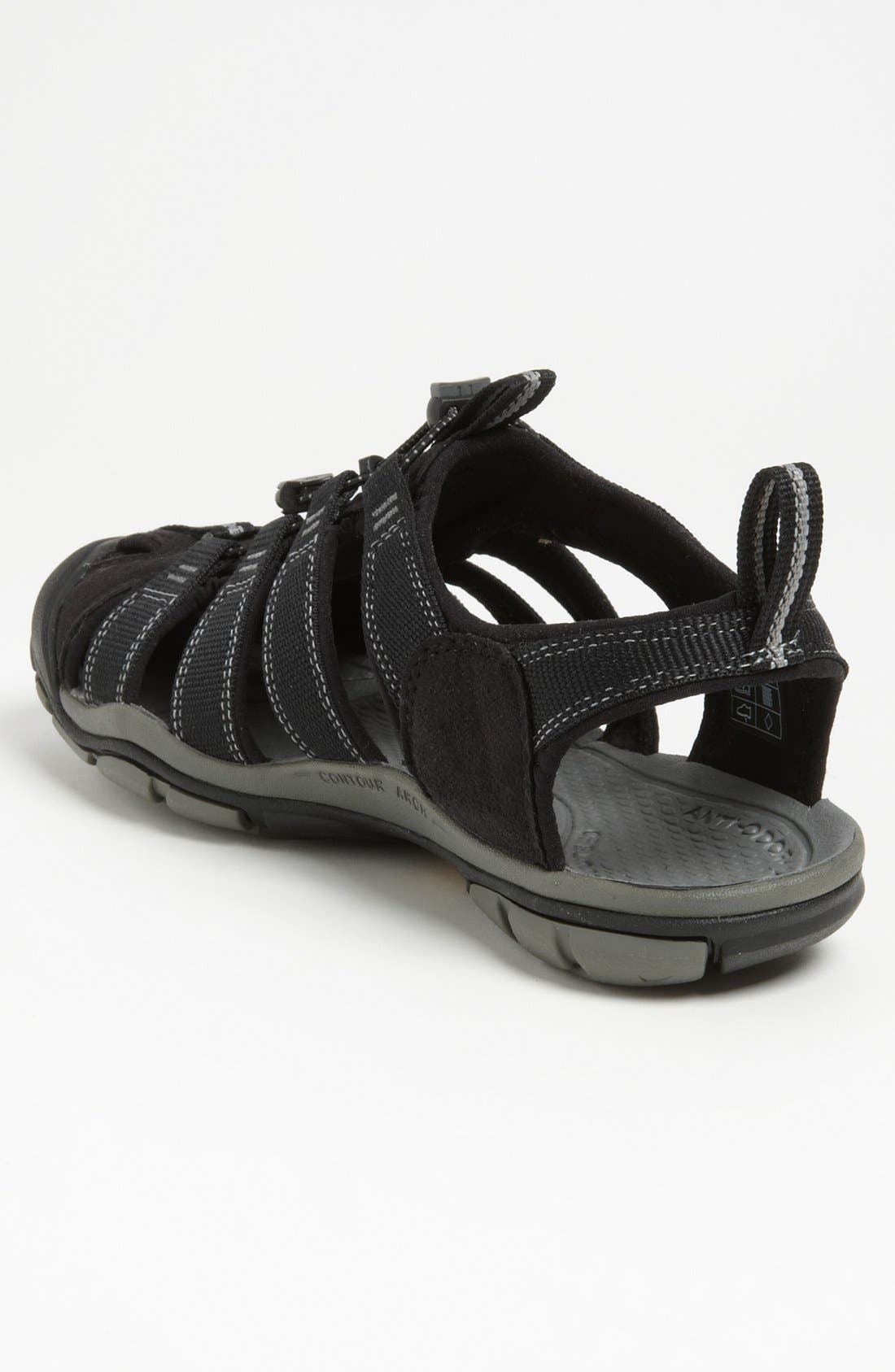 'Clearwater CNX' Sandal,                             Alternate thumbnail 2, color,                             BLACK/ GARGOYLE