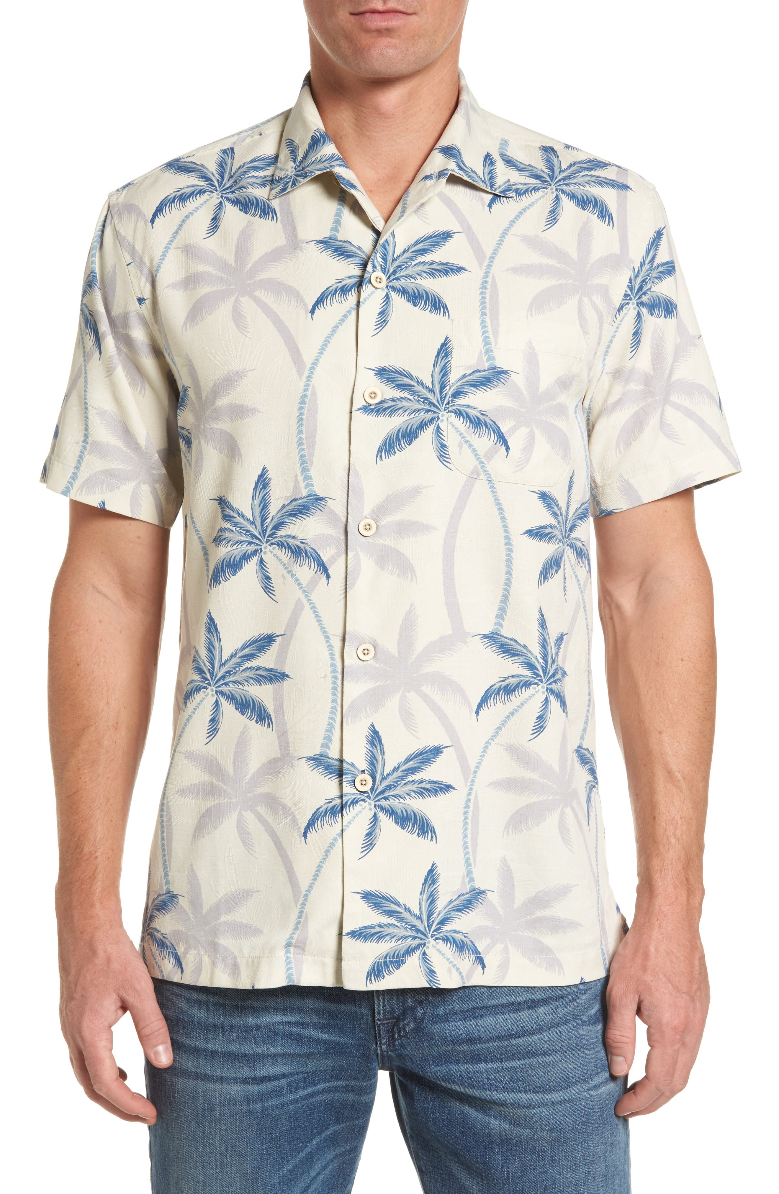 Palmas Palooza Woven Shirt,                         Main,                         color, 100