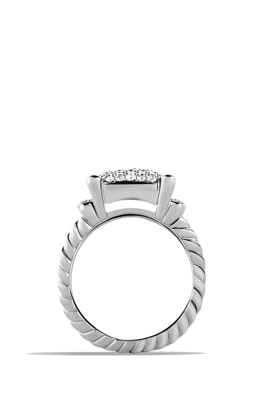 DAVID YURMAN,                             'Wheaton' Ring with Diamonds,                             Alternate thumbnail 3, color,                             DIAMOND
