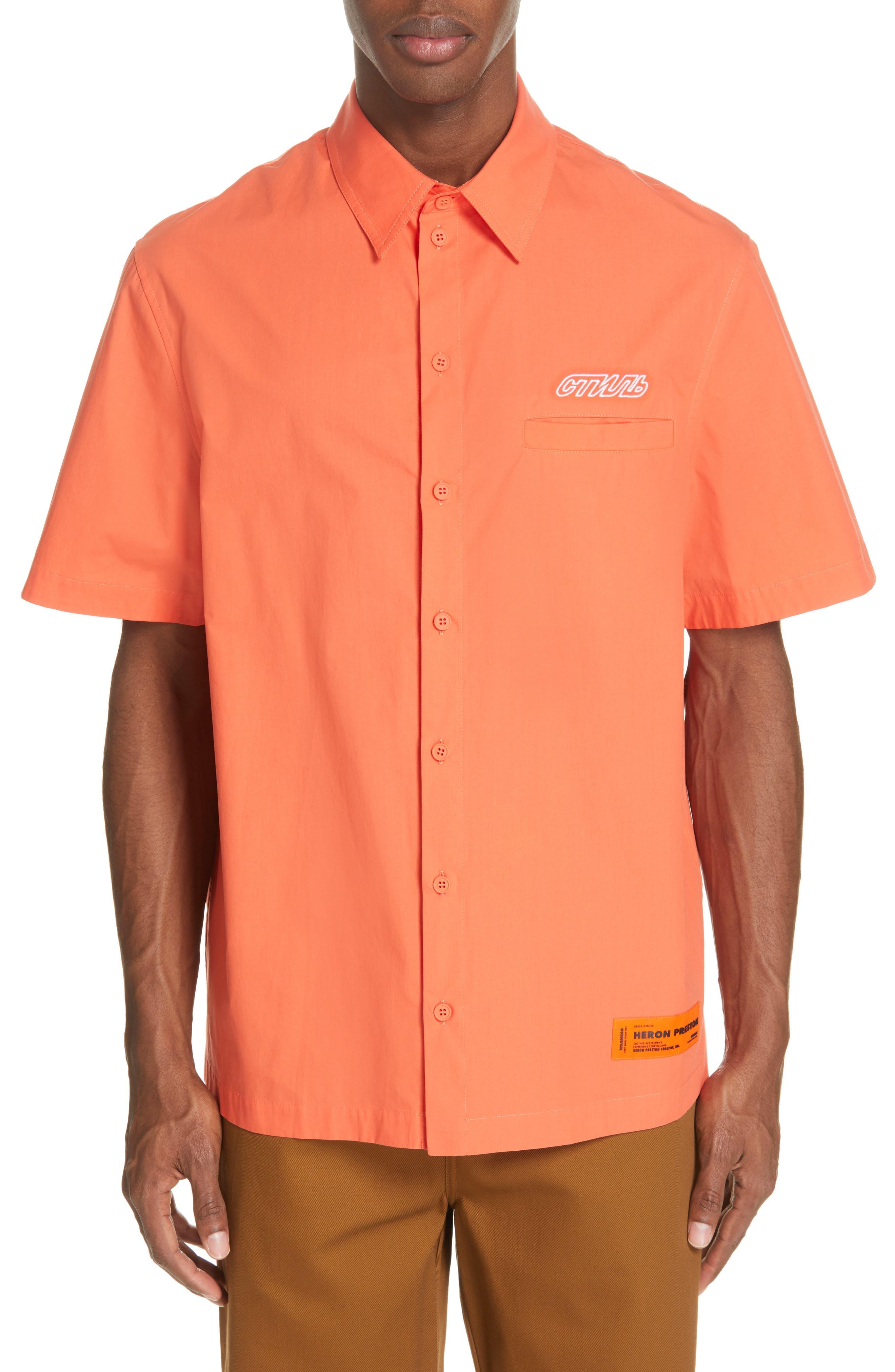Woven Shirt,                             Main thumbnail 1, color,                             ORANGE