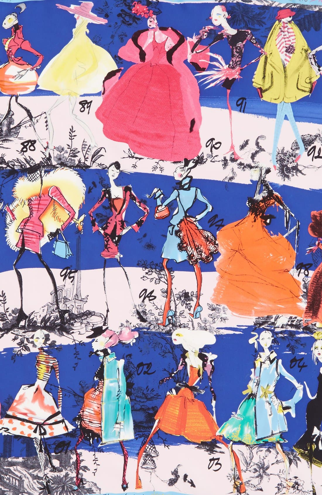 '20 Ans' Square Silk Scarf,                             Alternate thumbnail 8, color,