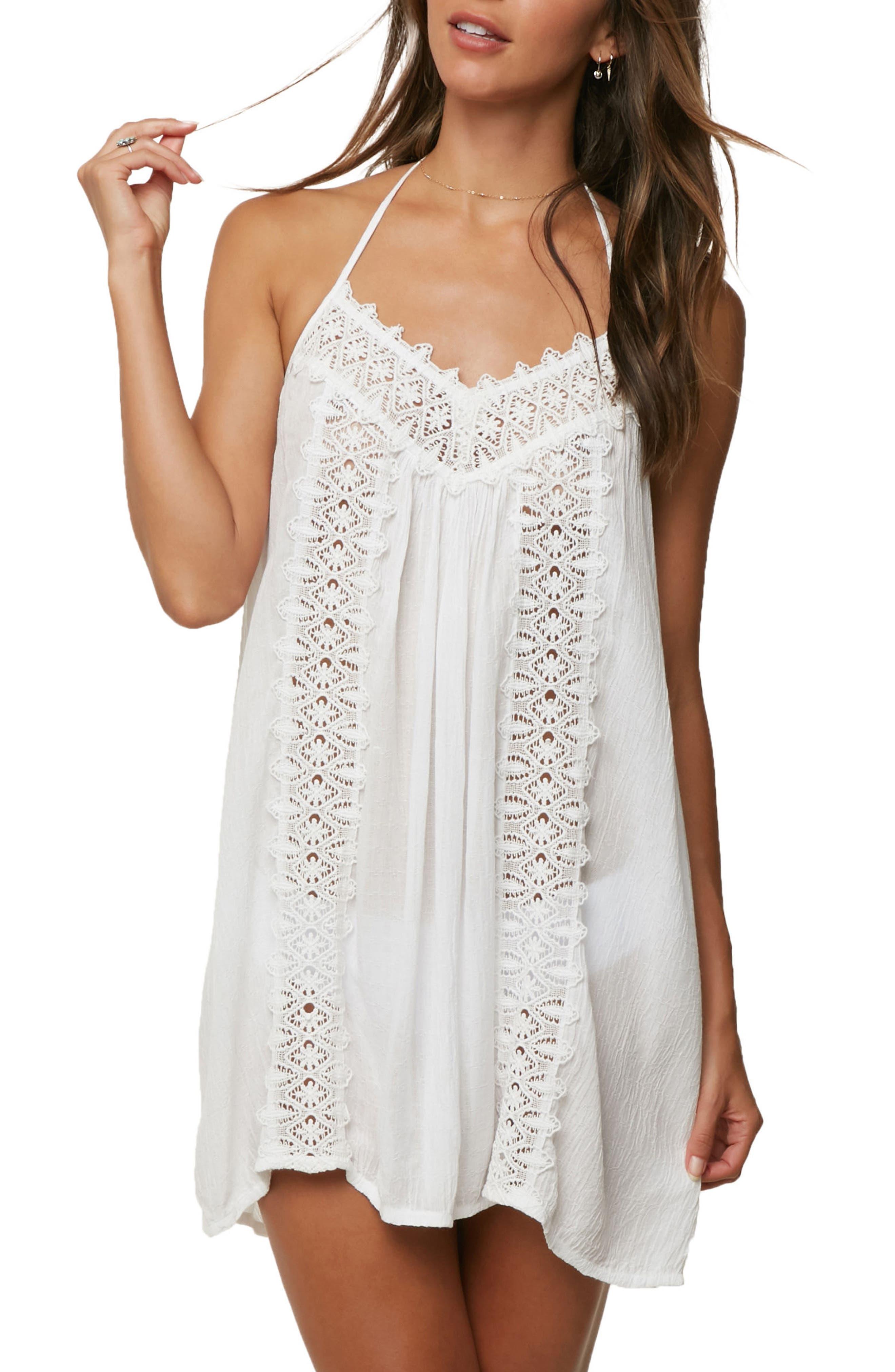 Waimea Cover-Up Halter Dress,                         Main,                         color, 100