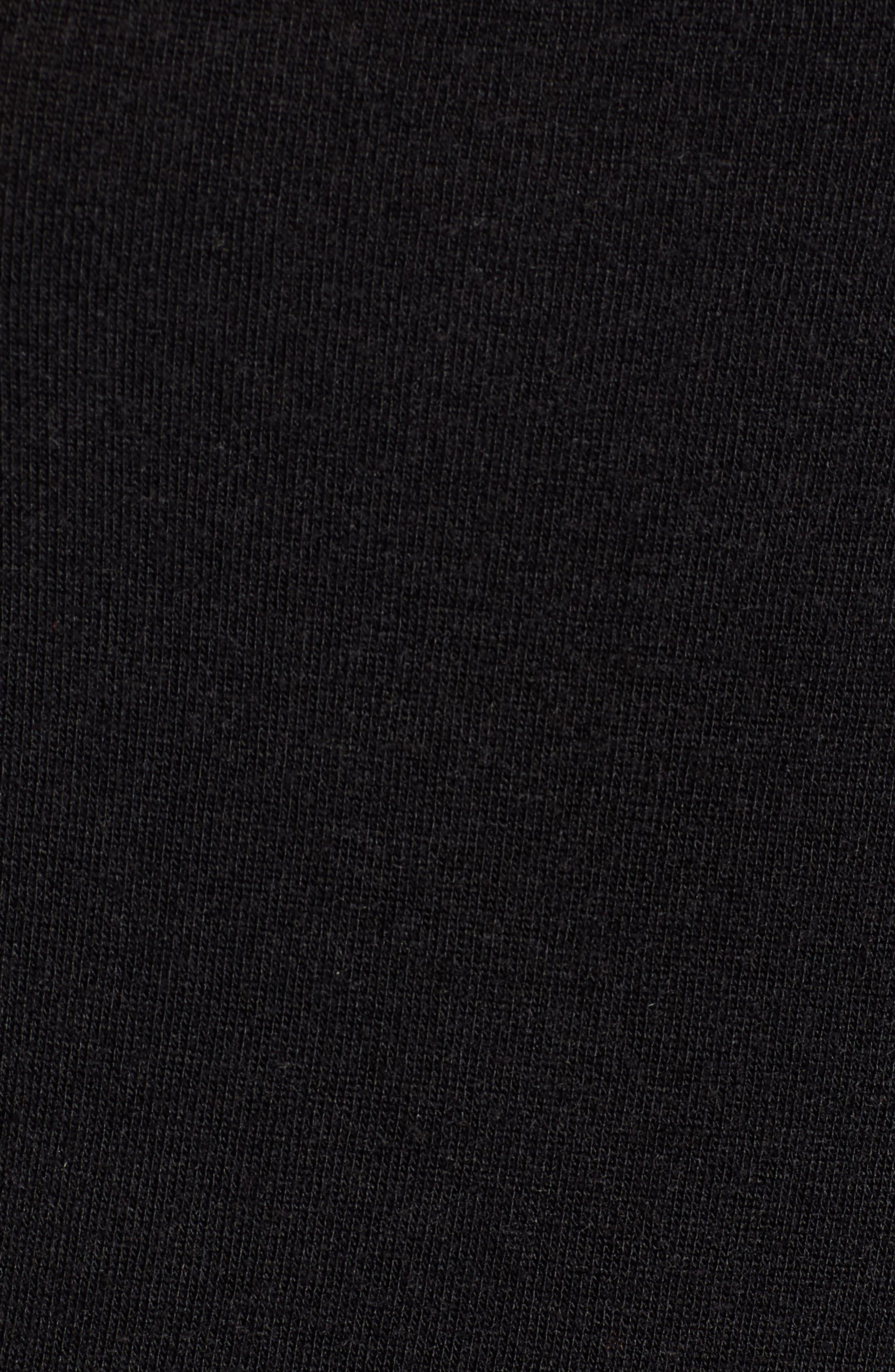 Square Neck Slim Knit Top,                             Alternate thumbnail 5, color,                             001