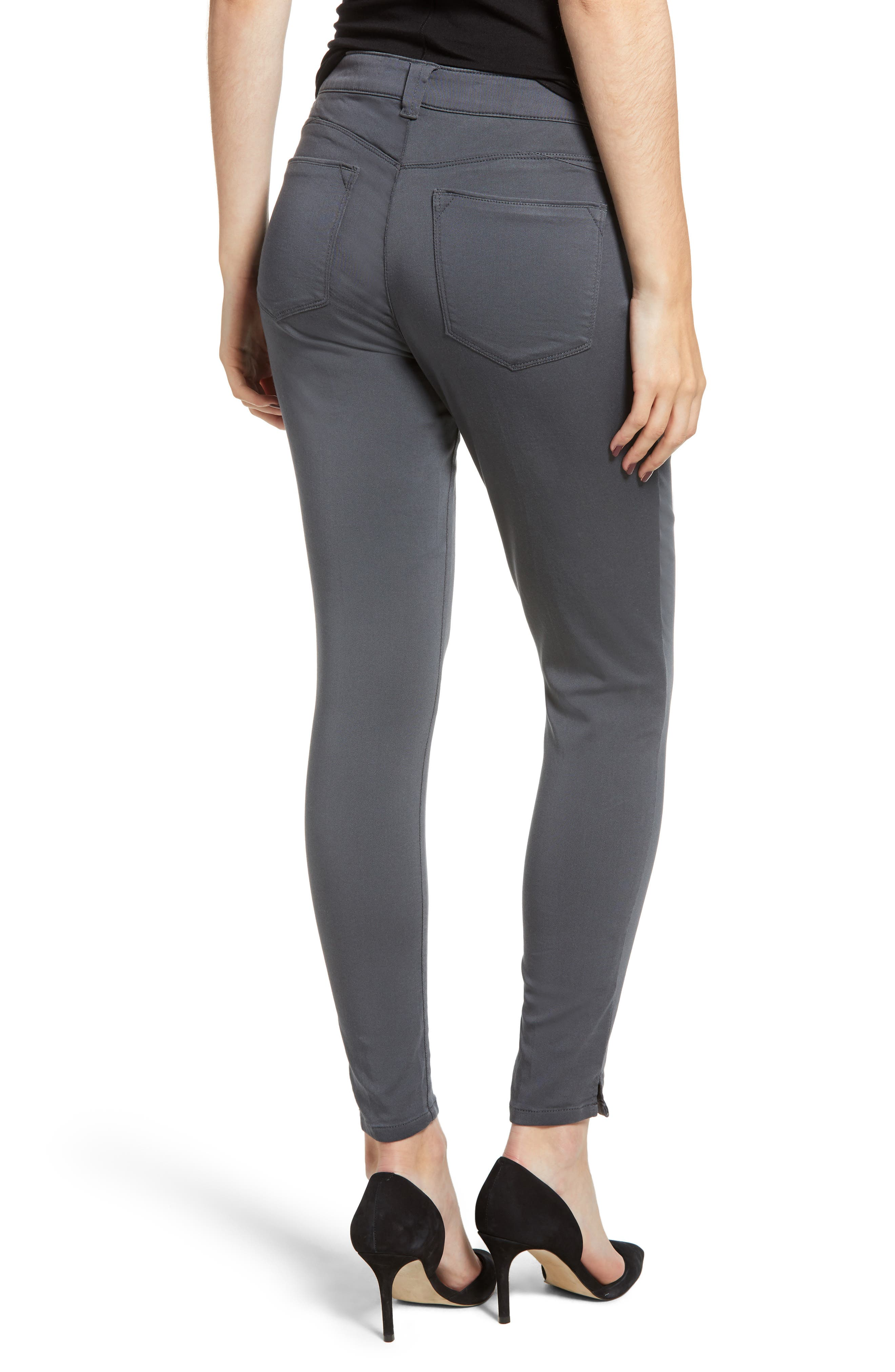 Wit and Wisdom Ab-Solution Ankle Skinny Pants,                             Alternate thumbnail 2, color,                             PEWTER