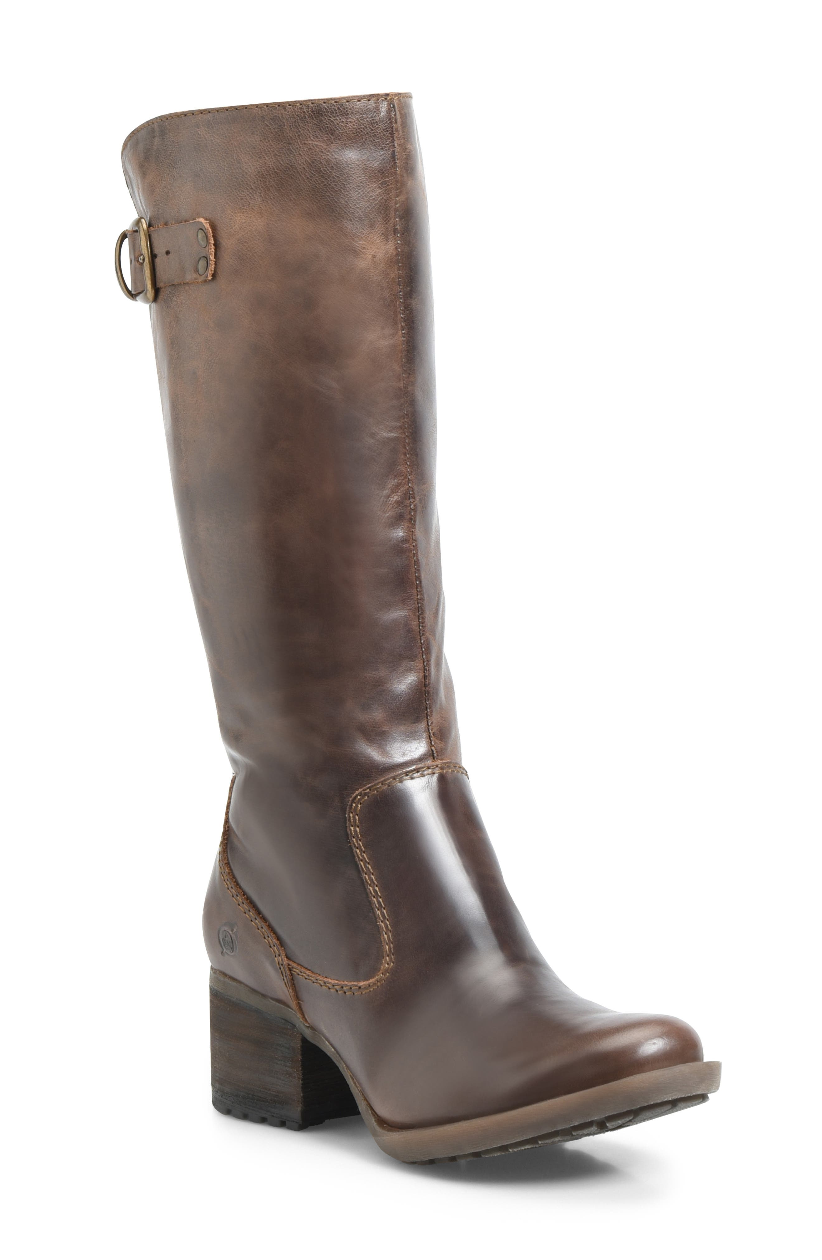 Knute Tall Boot,                             Main thumbnail 1, color,                             LIGHT BROWN LEATHER