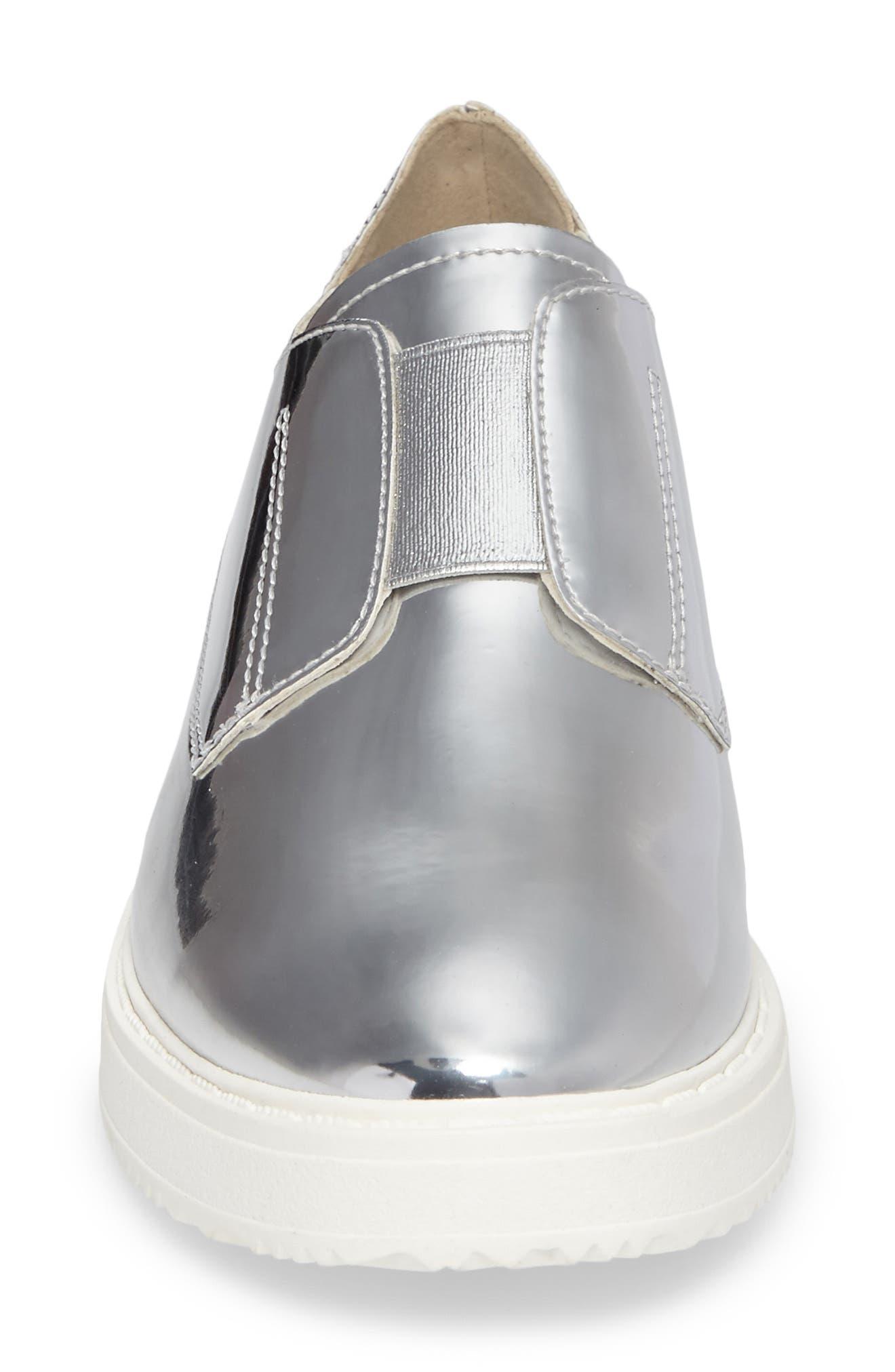 Trist Slip-On Metallic Sneaker,                             Alternate thumbnail 4, color,                             045