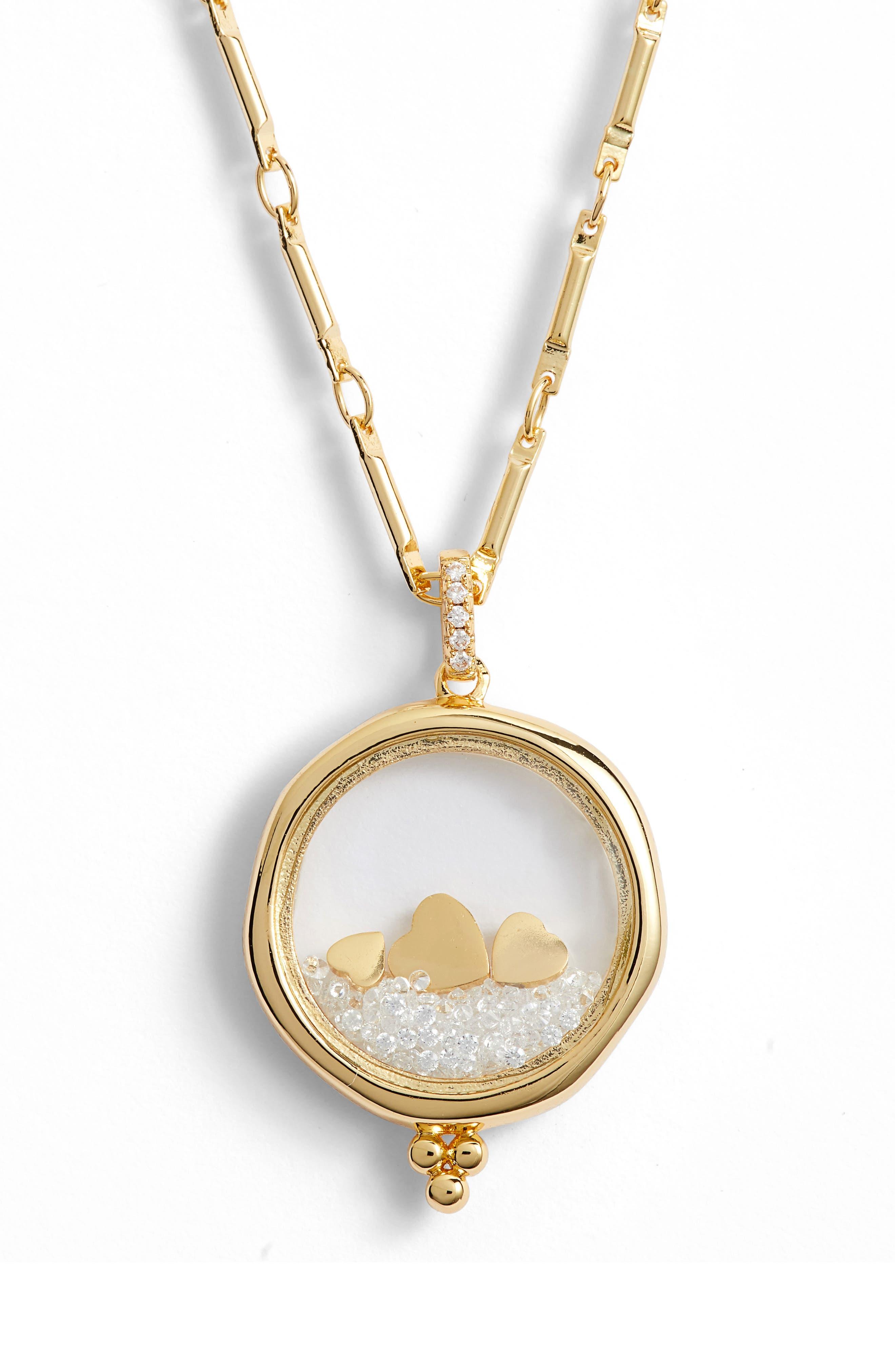 LULU DK X Kristina Schulman Love Shaker Pendant Necklace in Gold