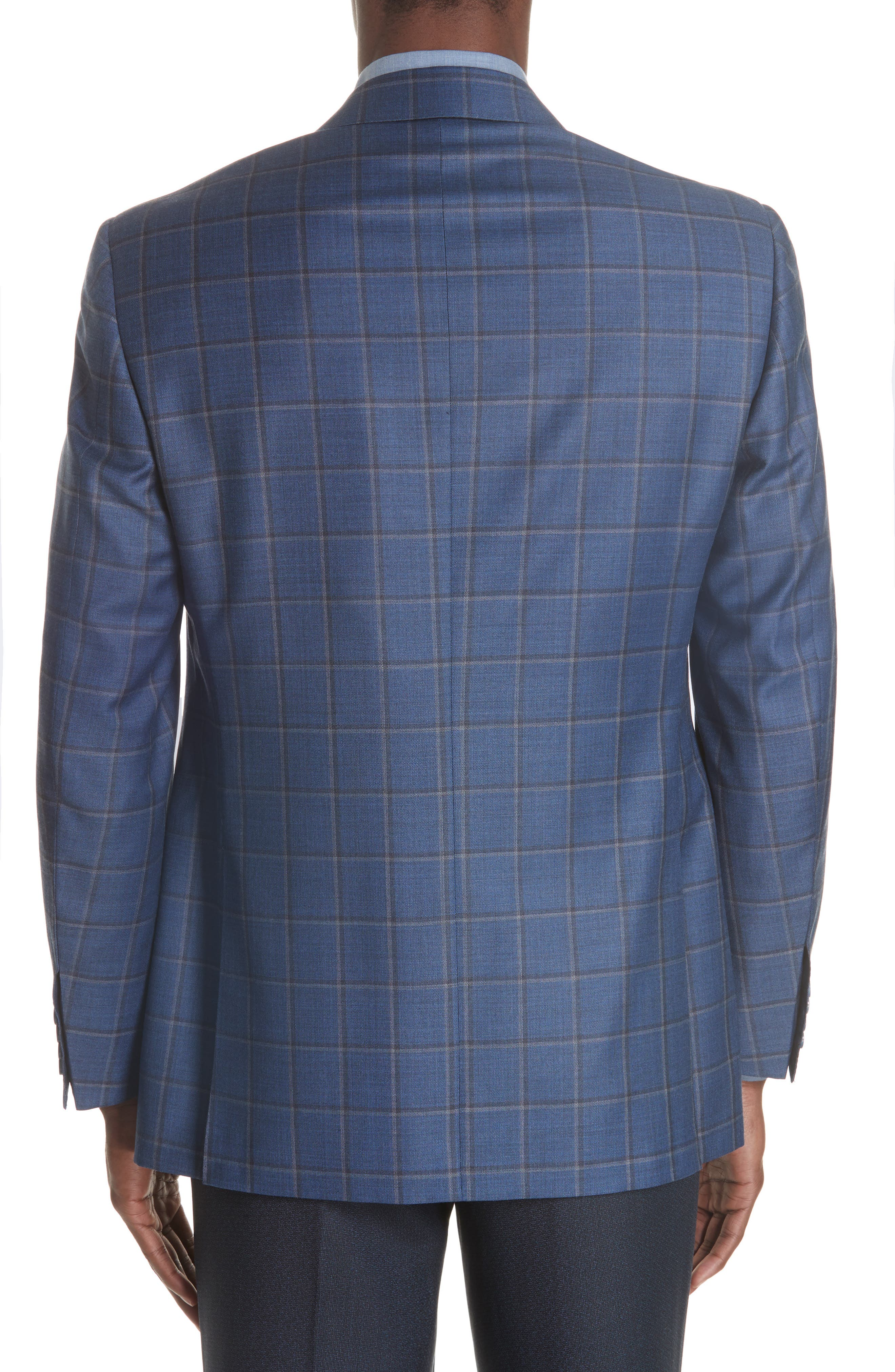Classic Fit Windowpane Wool Sport Coat,                             Alternate thumbnail 2, color,                             BLUE
