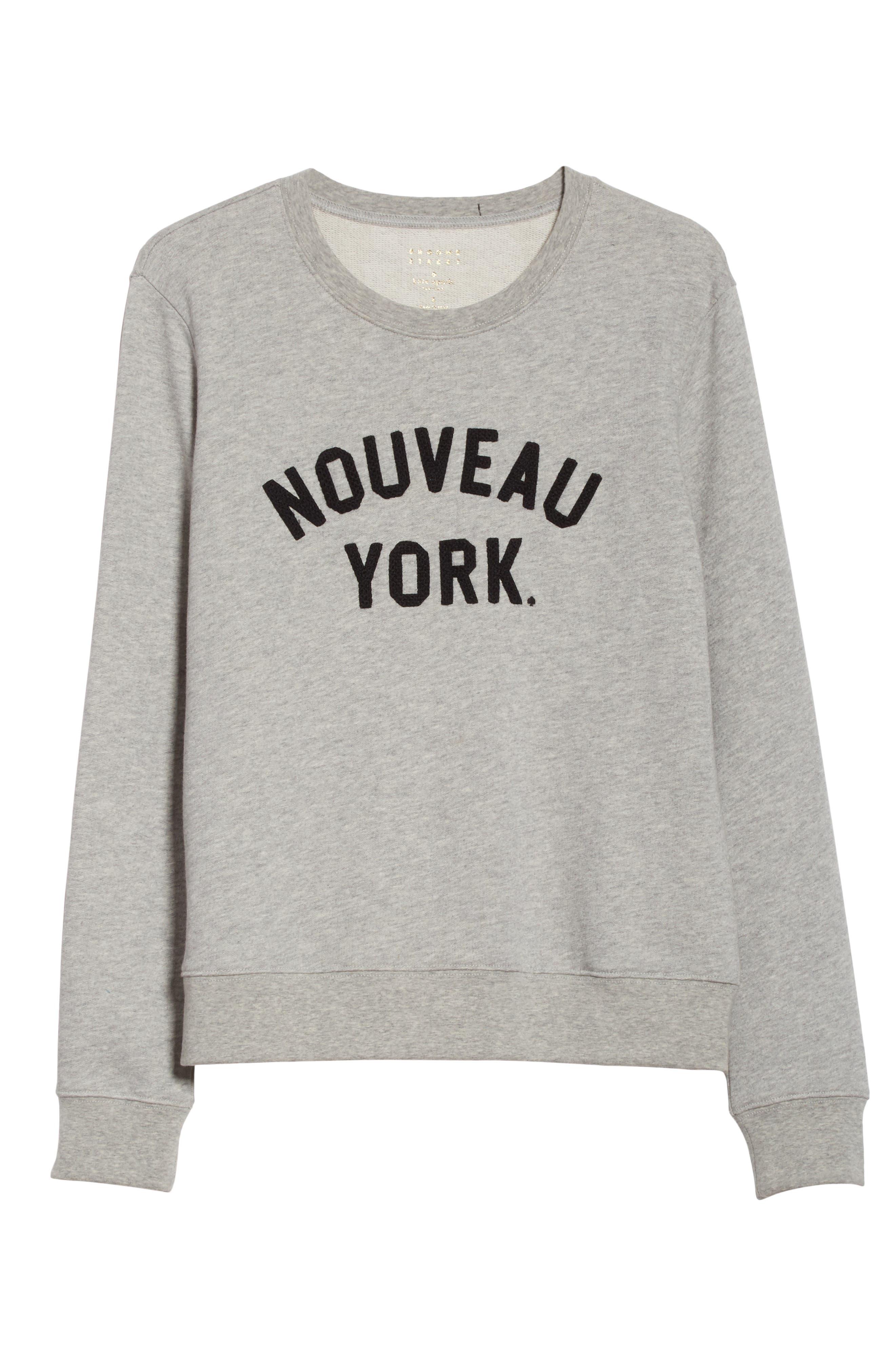 nouveau york sweatshirt,                             Alternate thumbnail 6, color,                             098