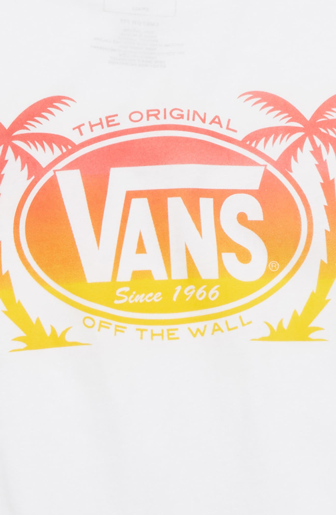 Palm Logo Graphic T-Shirt,                             Alternate thumbnail 3, color,                             100