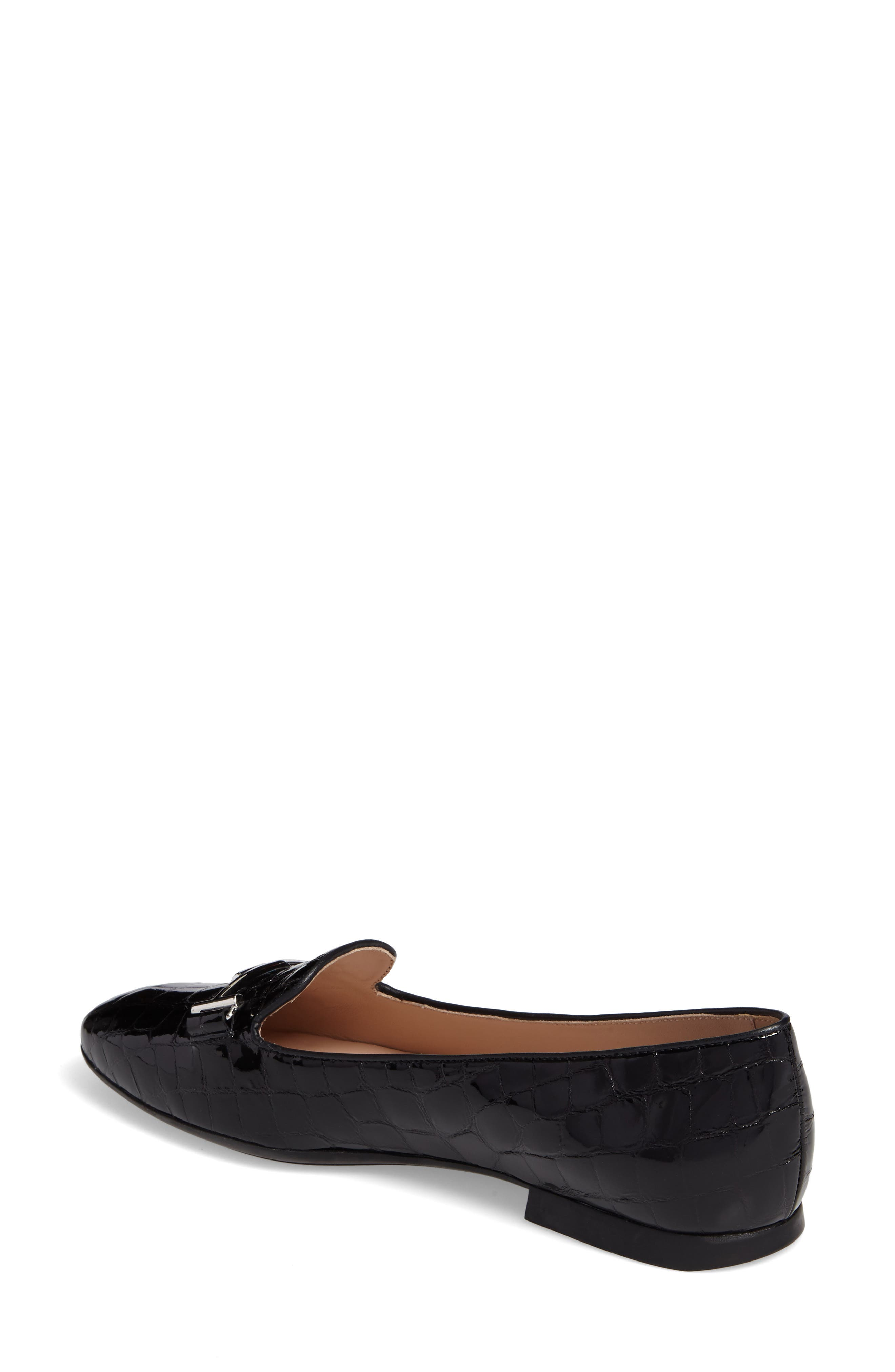 Tods Double T Loafer,                             Alternate thumbnail 2, color,                             BLACK