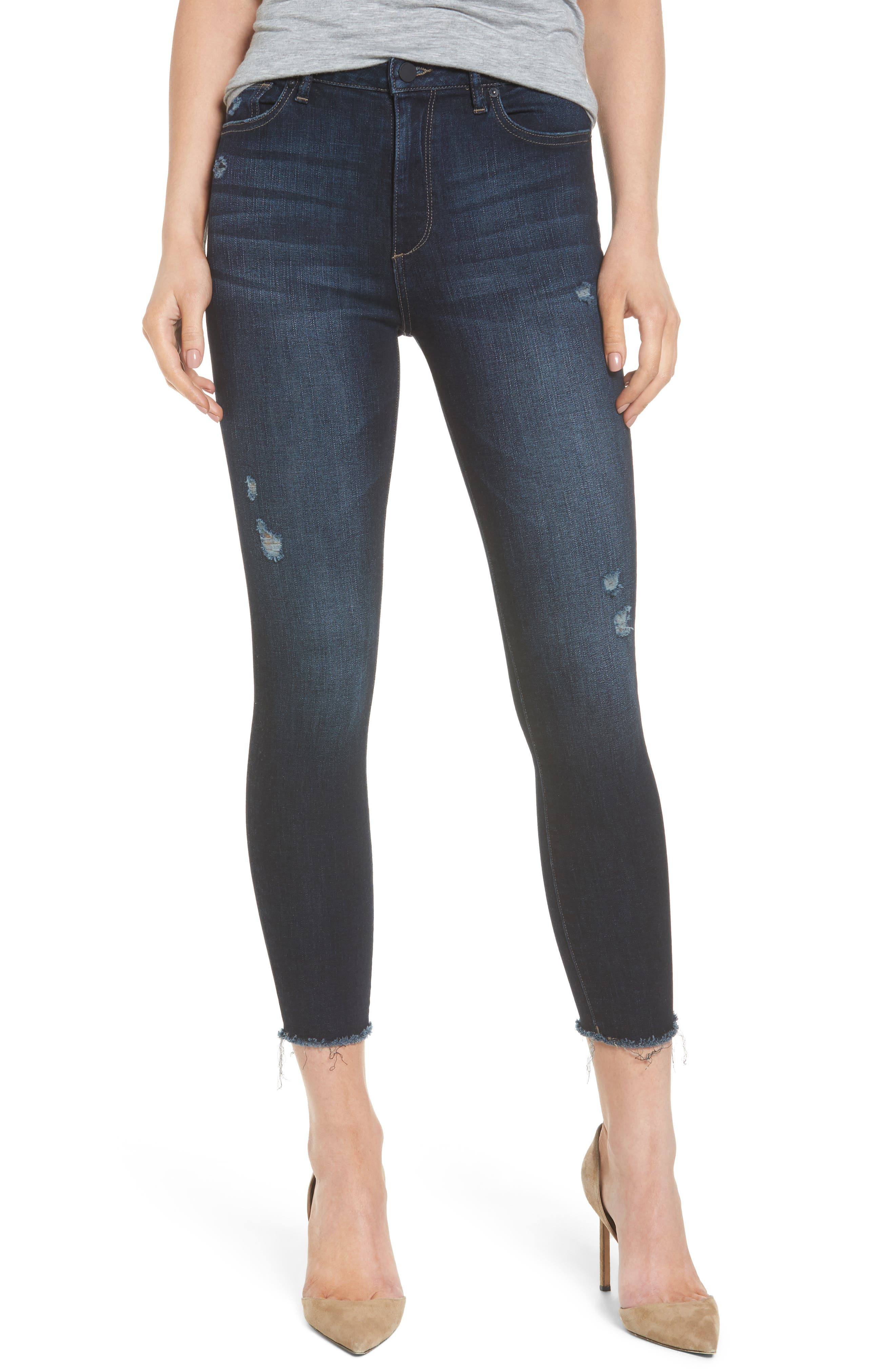 Chrissy High Waist Crop Skinny Jeans,                             Main thumbnail 1, color,                             405