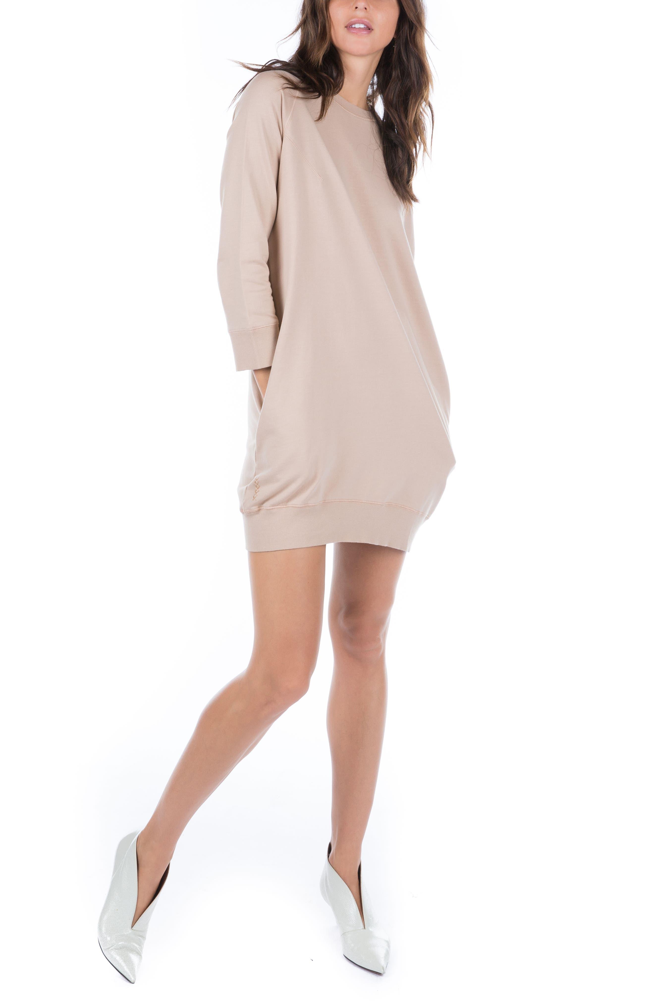 Sweatshirt Dress,                             Alternate thumbnail 8, color,                             950