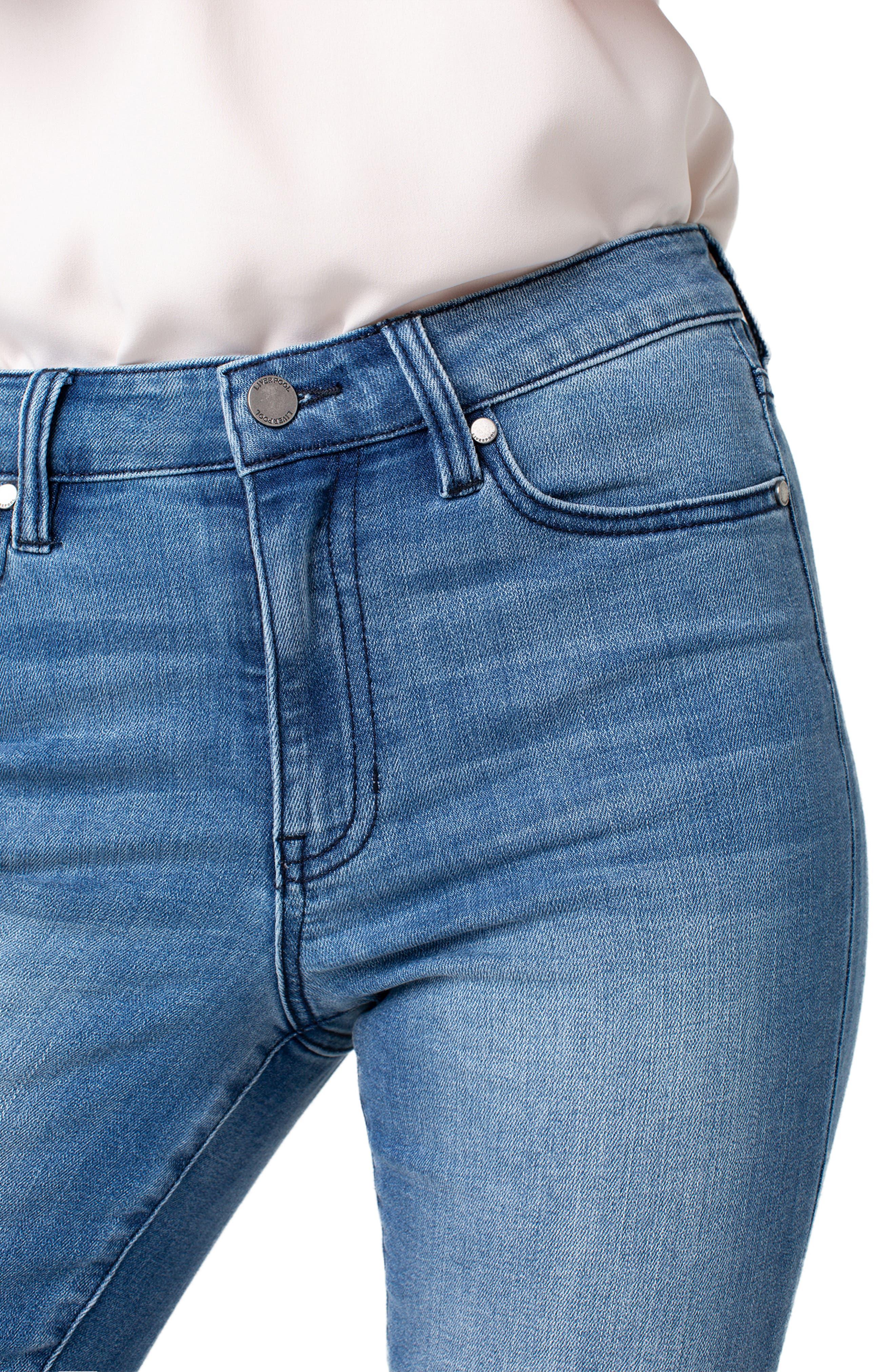 LIVERPOOL,                             Marley High Waist Girlfriend Jeans,                             Alternate thumbnail 3, color,                             CRESTLAKE