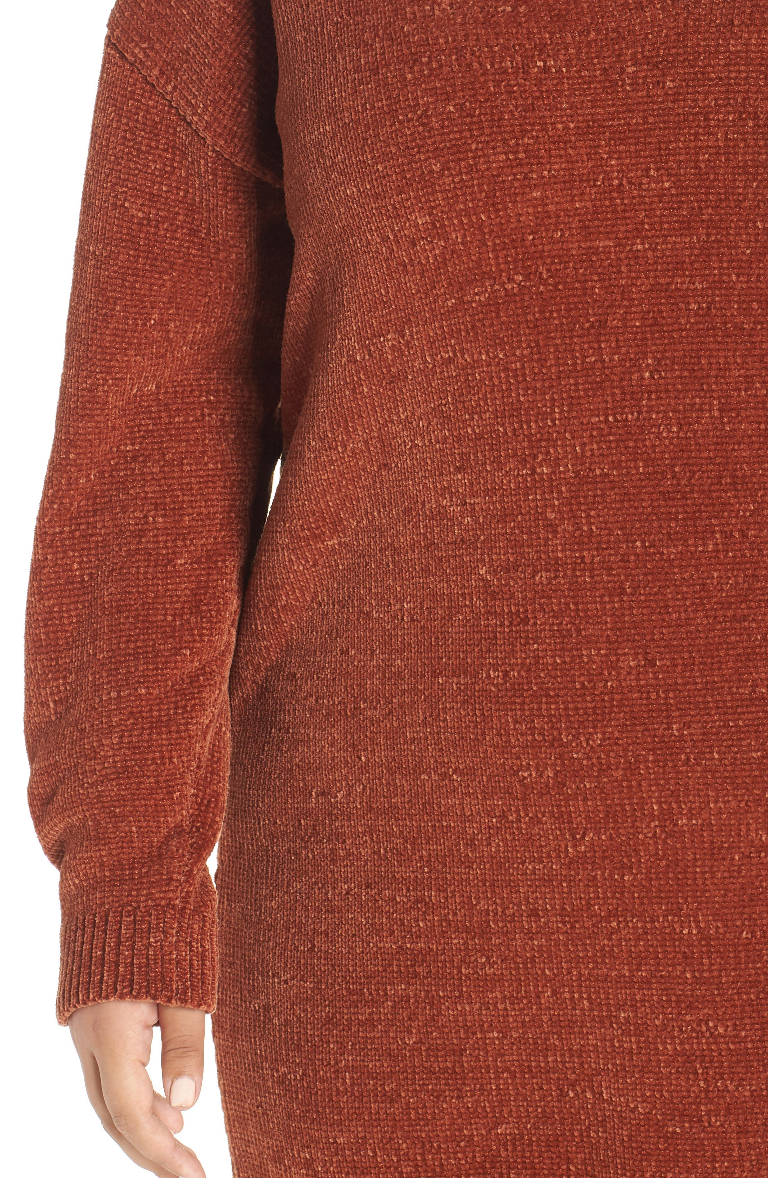 Chenille Sweater Dress,                             Alternate thumbnail 4, color,                             221