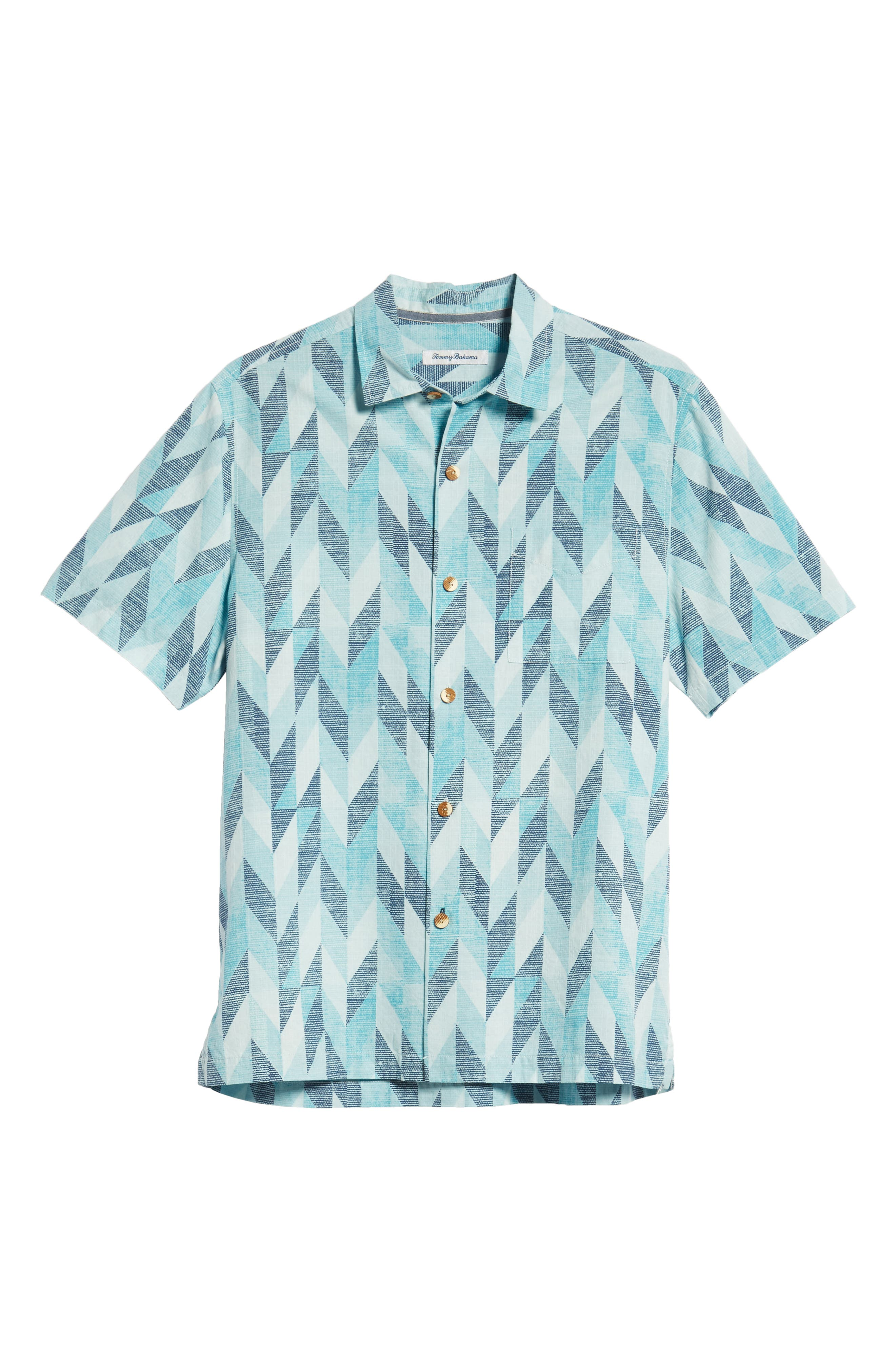 Geo Celeste Sport Shirt,                             Alternate thumbnail 5, color,                             RIVIERA AZURE