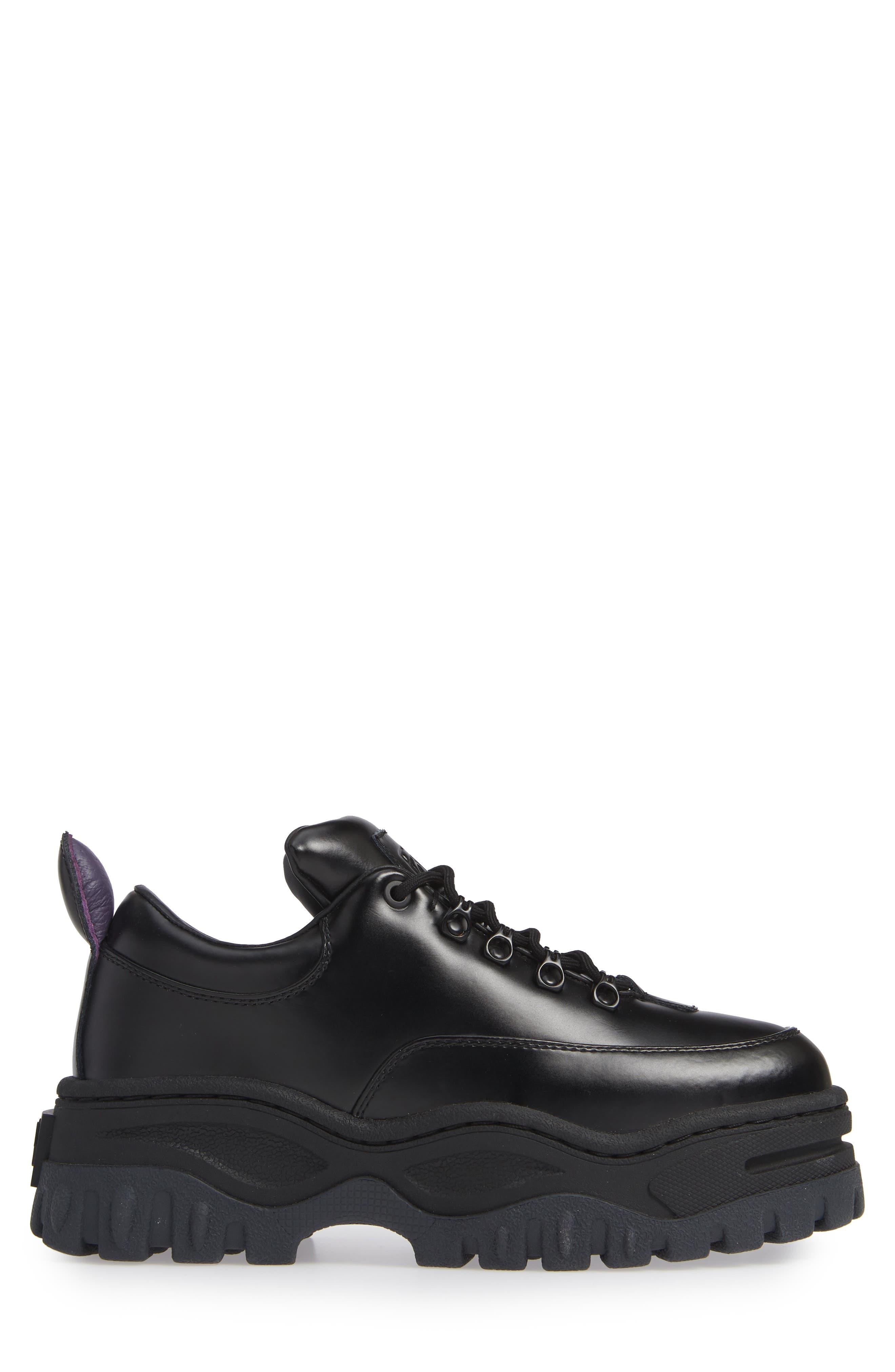 Angel Lug Sole Sneaker,                             Alternate thumbnail 3, color,                             BLACK