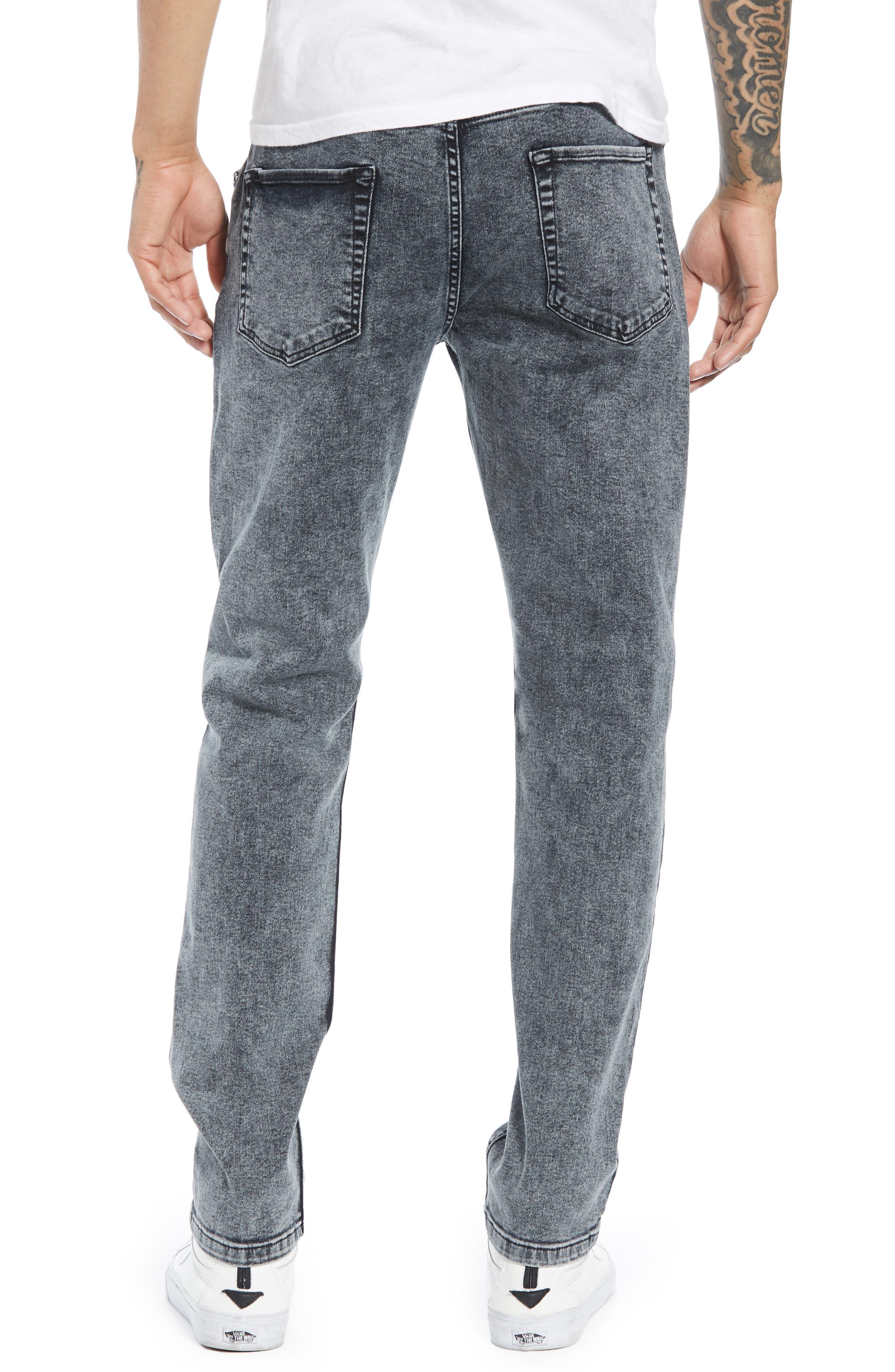 Acid Wash Stretch Skinny Jeans,                             Alternate thumbnail 2, color,                             GREY