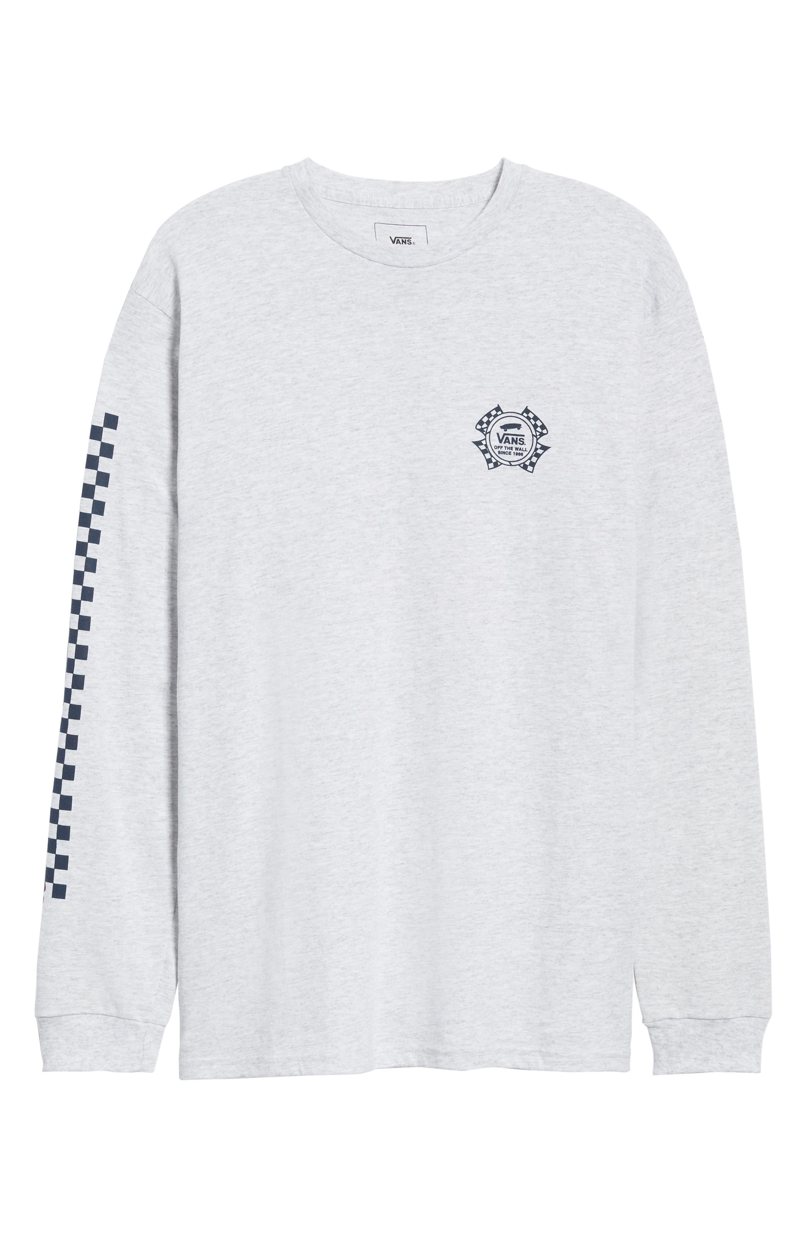 Check It Long Sleeve T-Shirt,                             Alternate thumbnail 6, color,                             ASH HEATHER