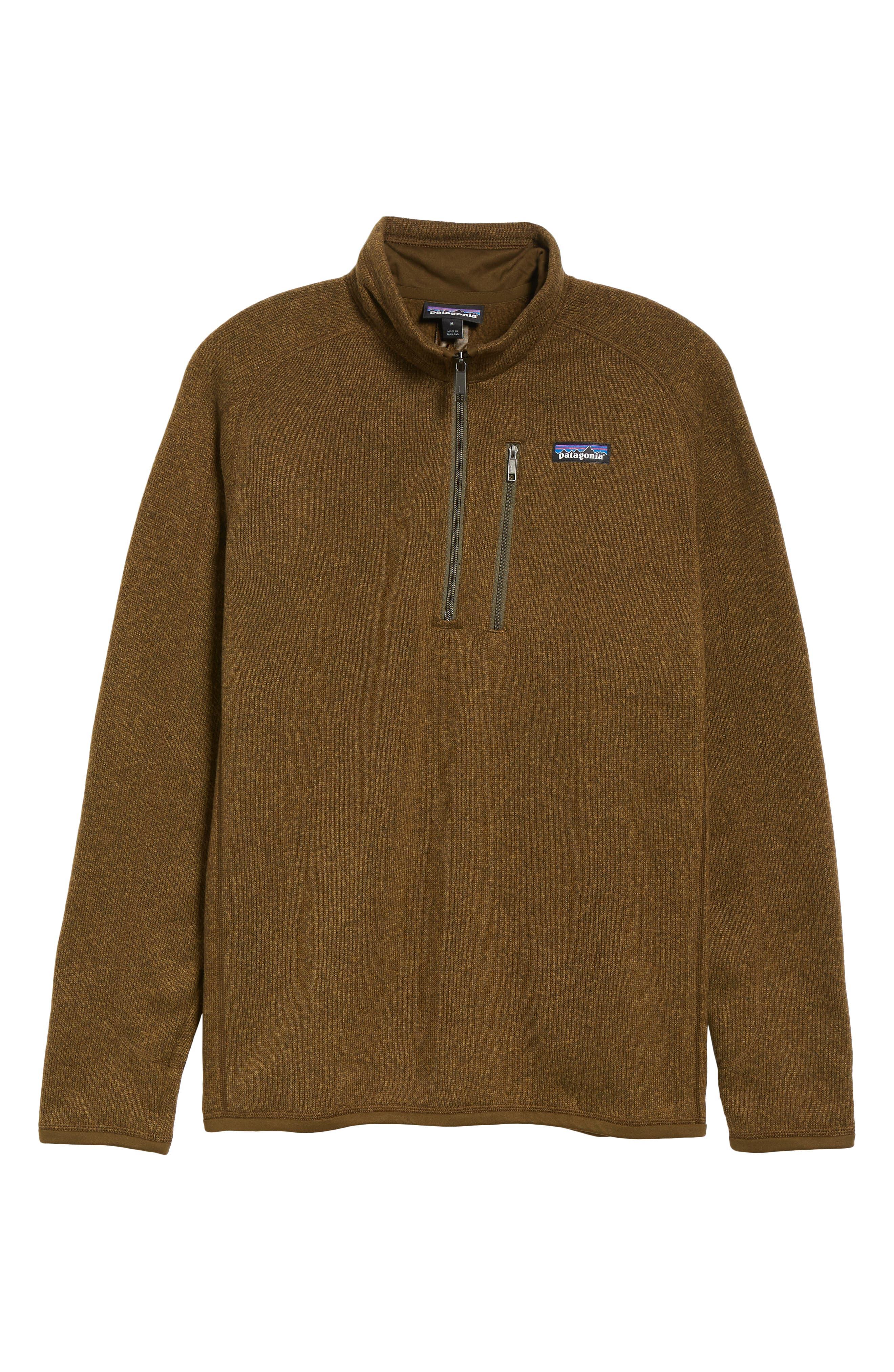 'Better Sweater' Quarter Zip Pullover,                             Alternate thumbnail 6, color,                             SEDIMENT