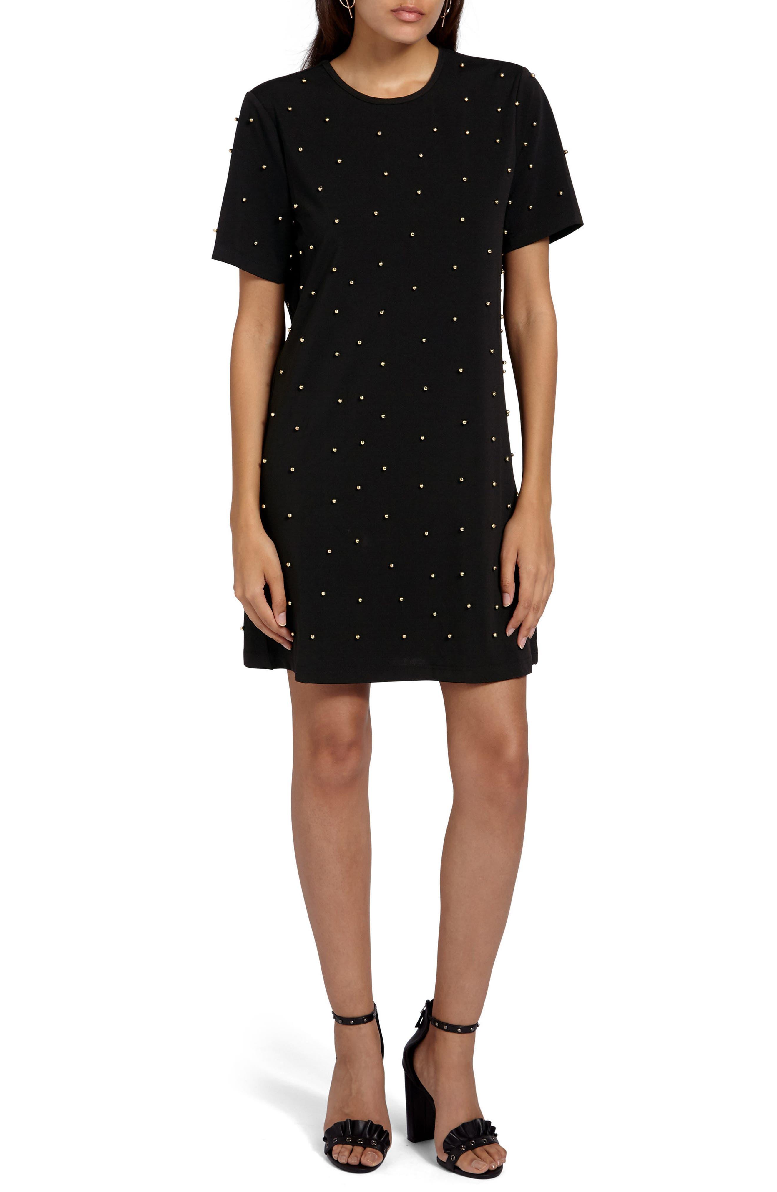 Embellished T-Shirt Dress,                             Main thumbnail 1, color,