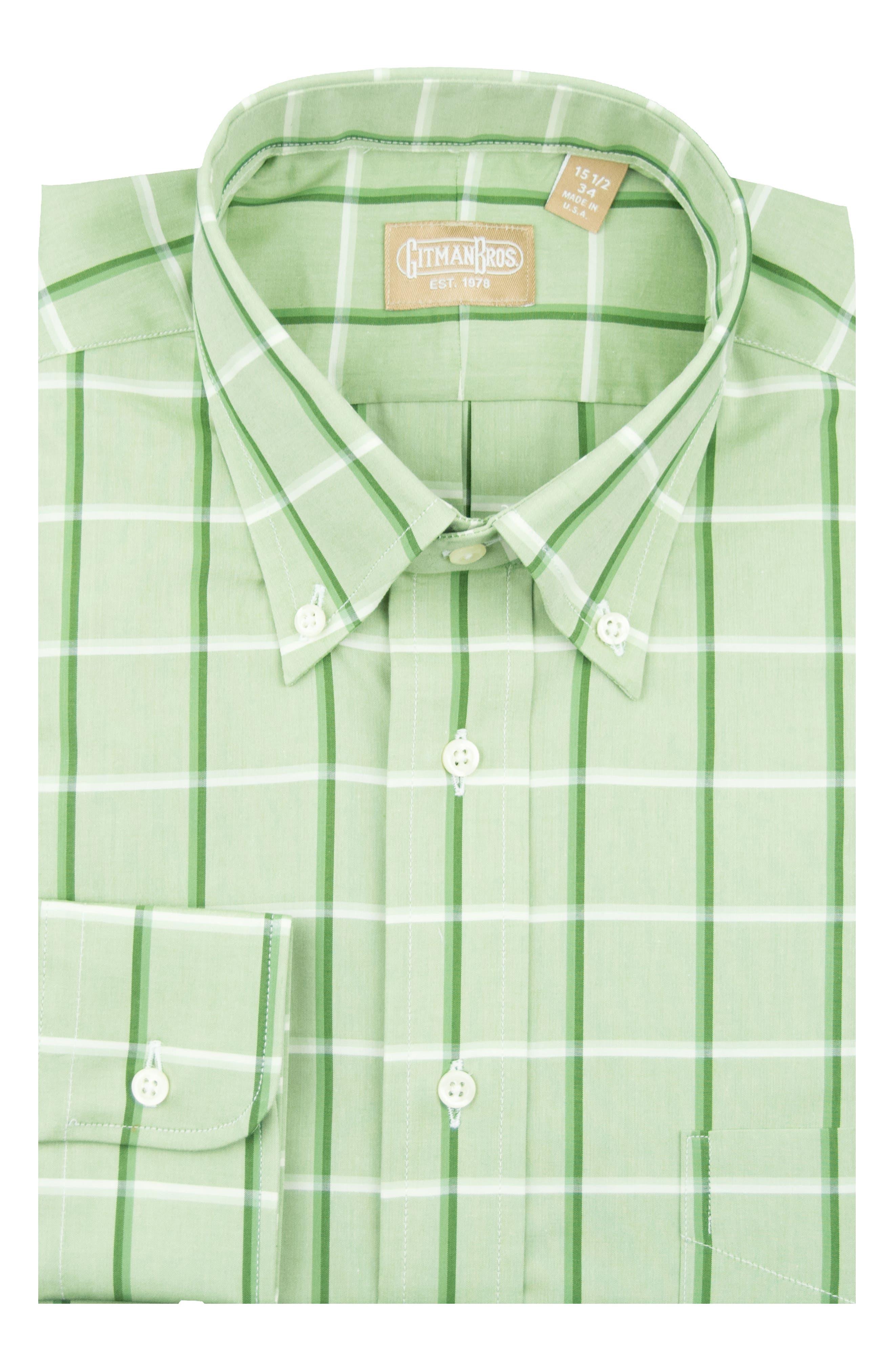 Tailored Fit Windowpane Dress Shirt,                         Main,                         color, 300