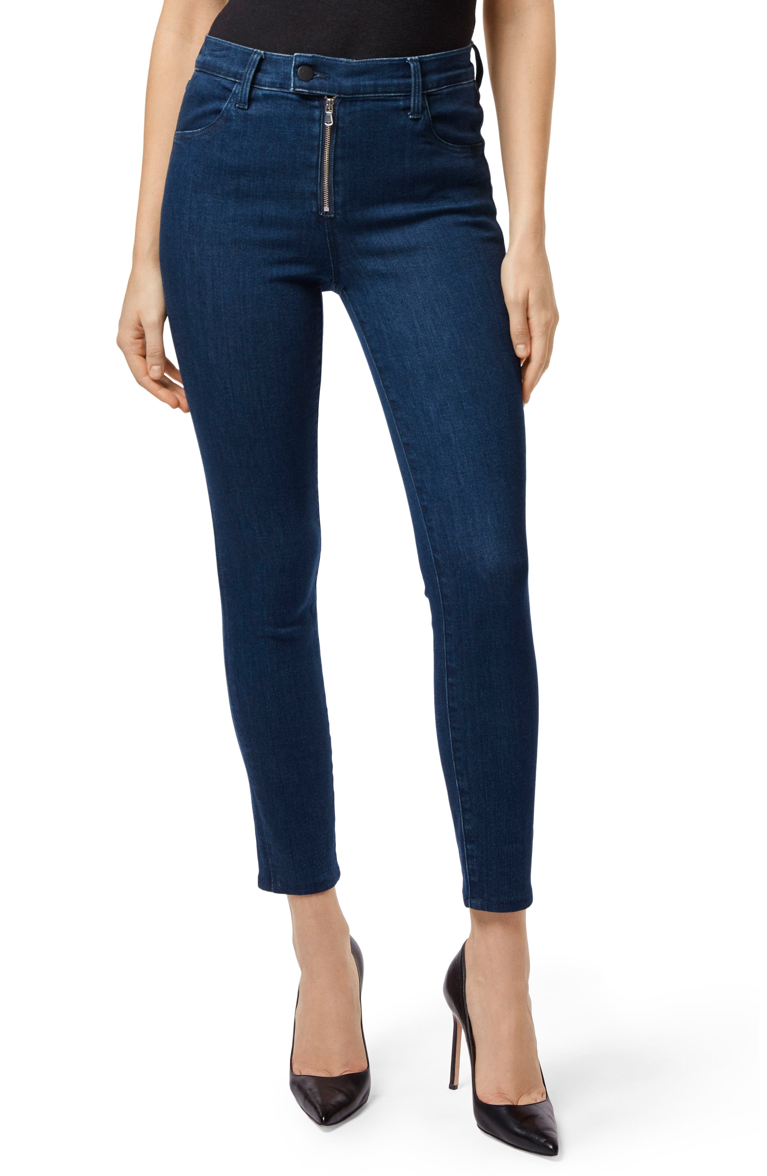 Alana Exposed Zip High Waist Ankle Skinny Jeans,                             Main thumbnail 1, color,                             439