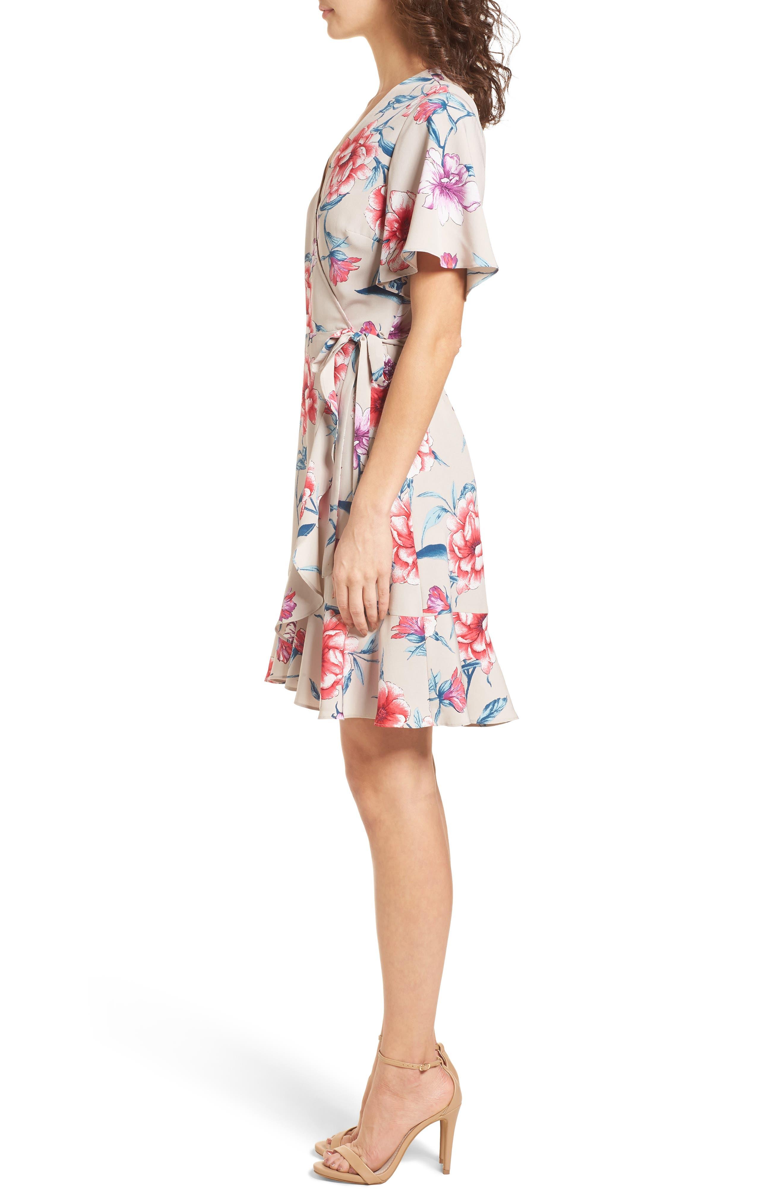 Lucy Floral Wrap Dress,                             Alternate thumbnail 10, color,