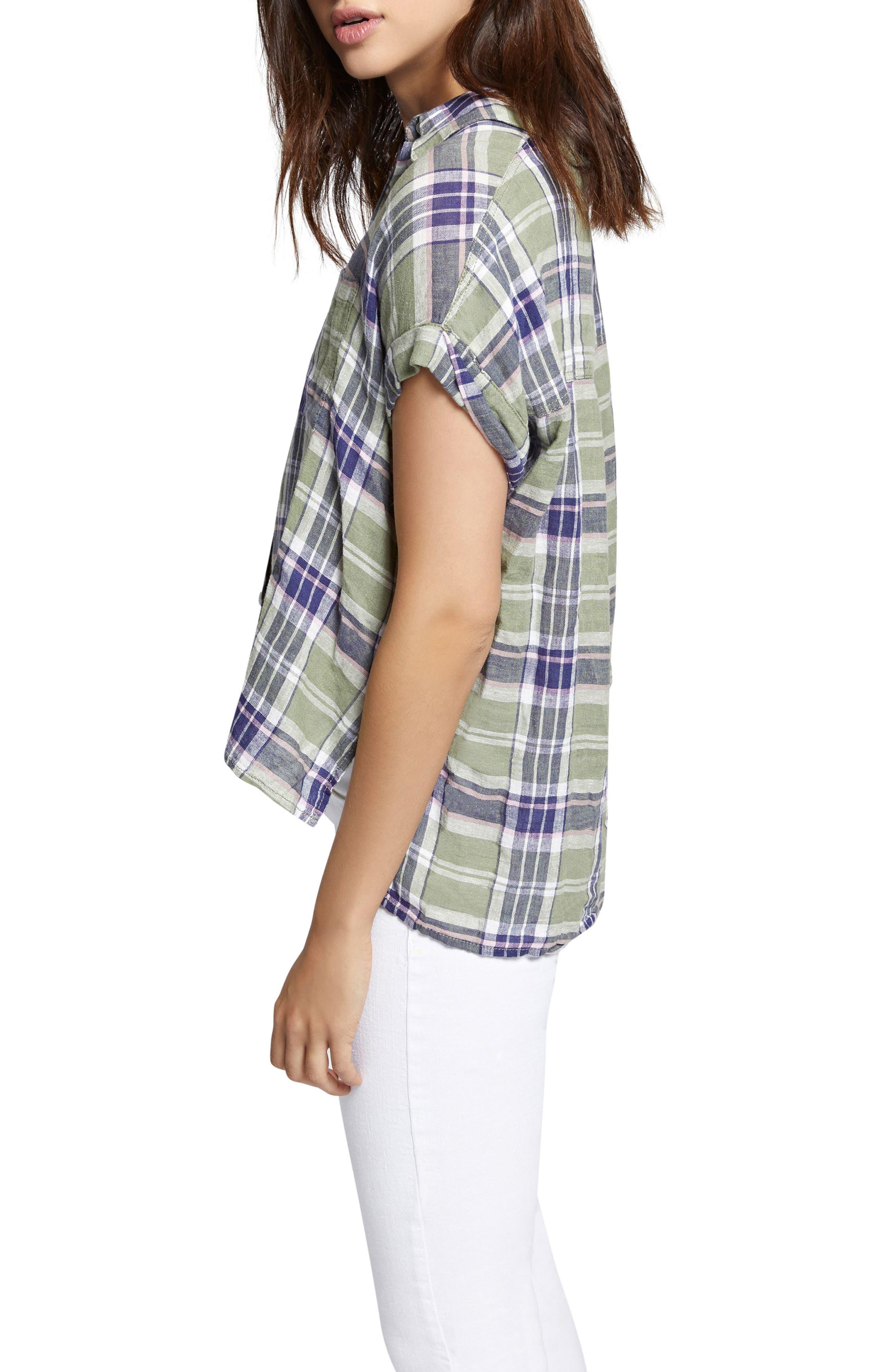 Mod Short Sleeve Boyfriend Shirt,                             Alternate thumbnail 16, color,