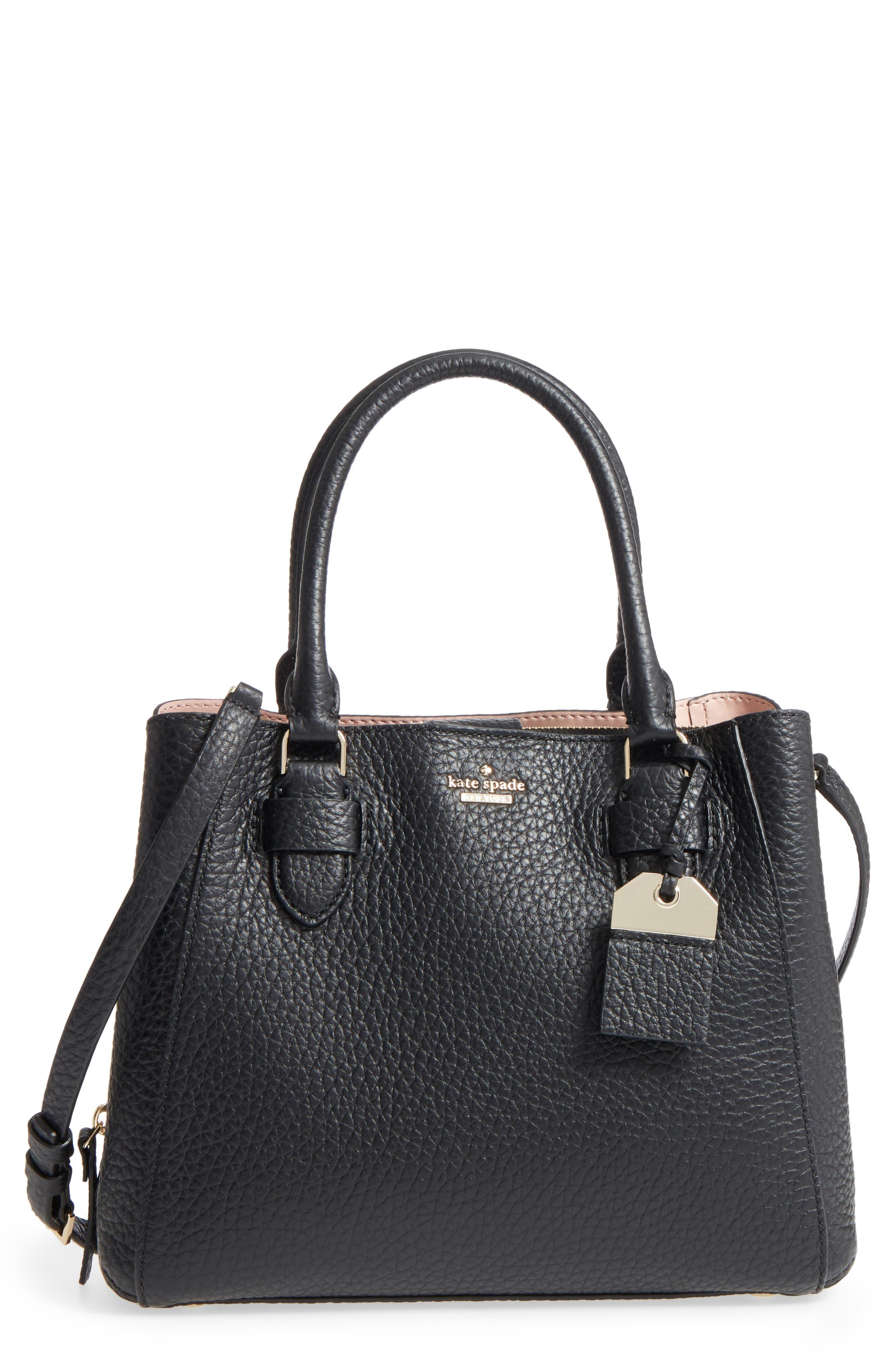 carter street - aliana leather satchel,                         Main,                         color, 001
