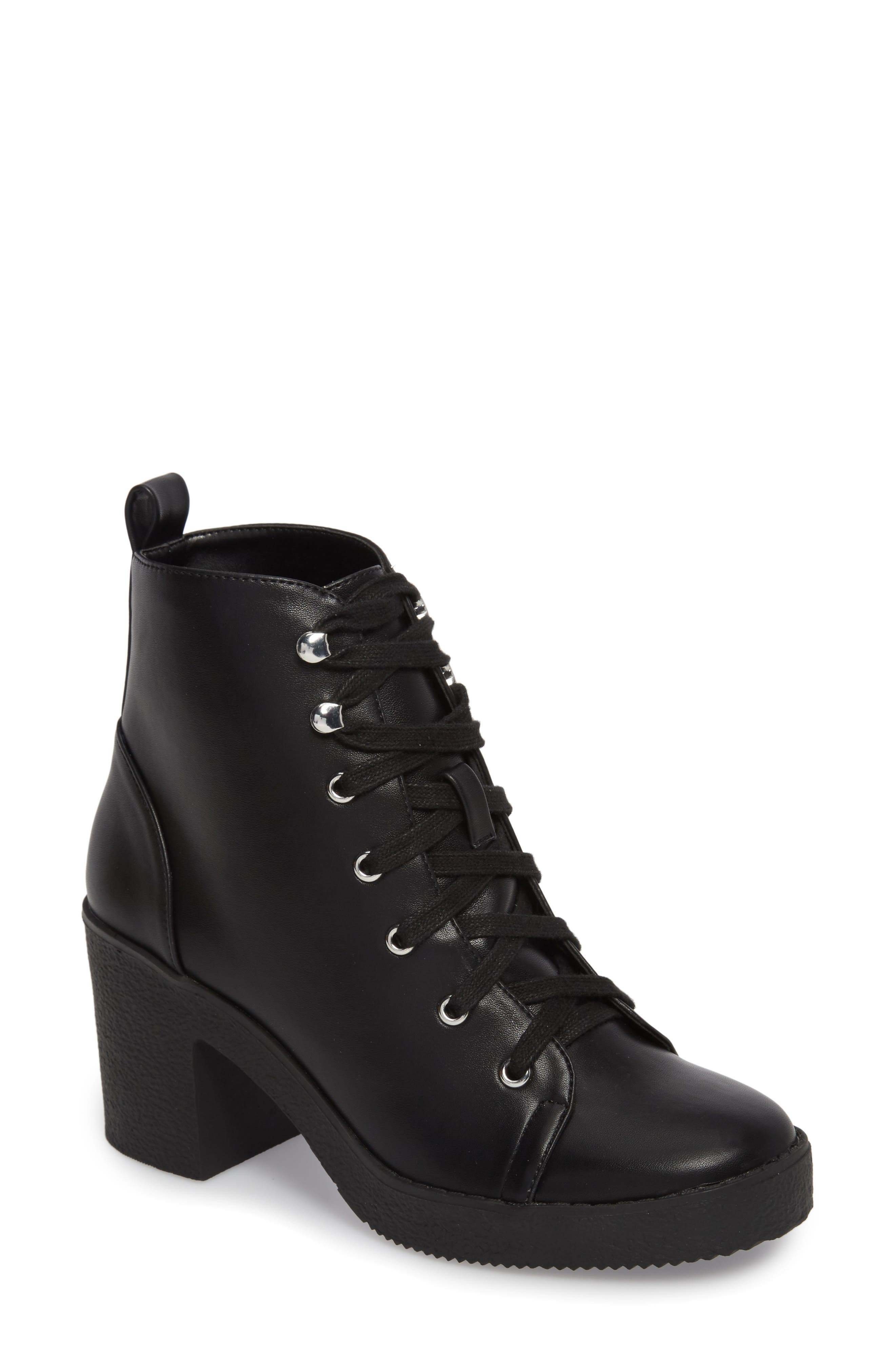 Abby Lace-Up Bootie, Main, color, 002