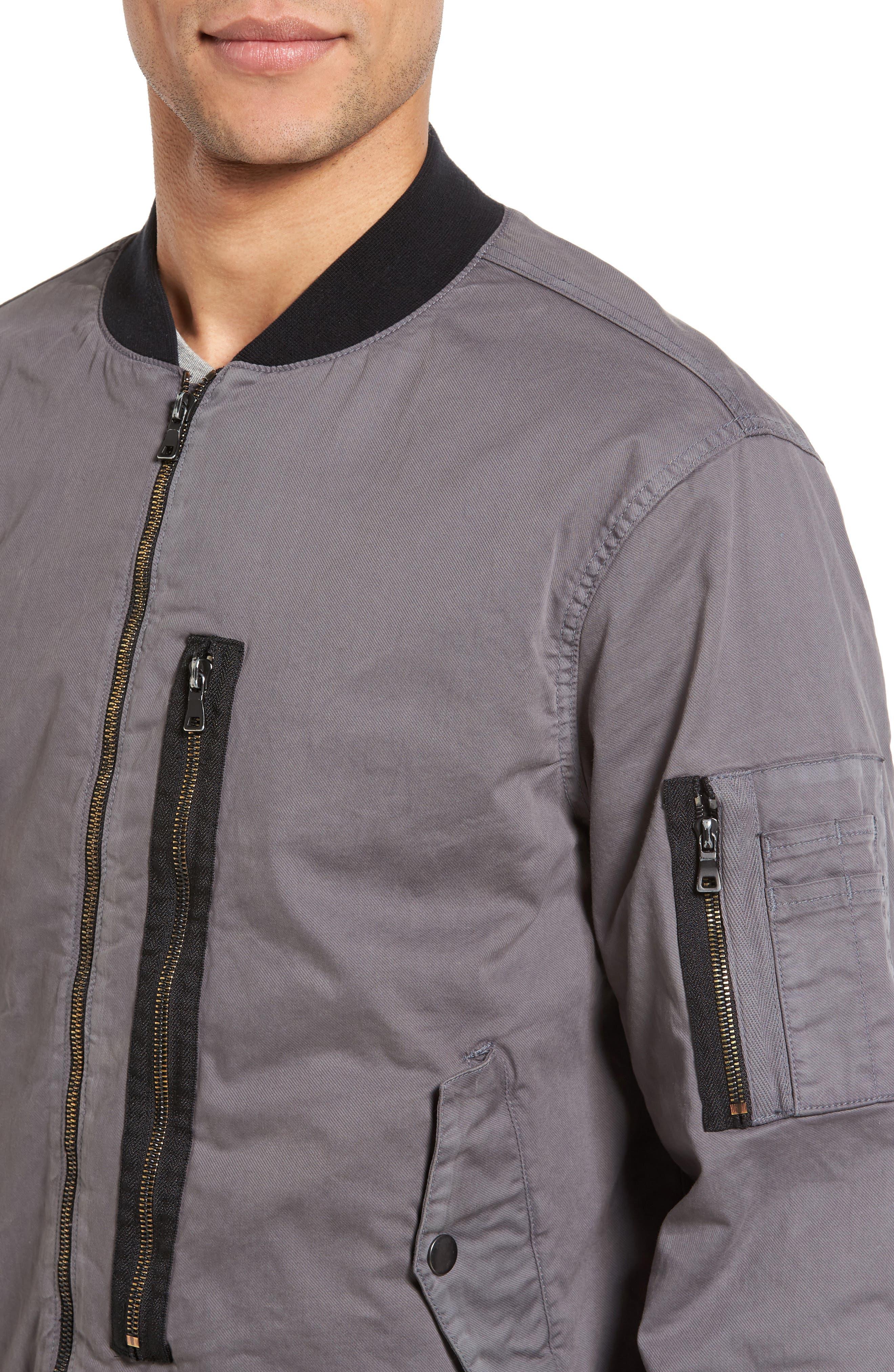 Knox Twill Bomber Jacket,                             Alternate thumbnail 4, color,                             020