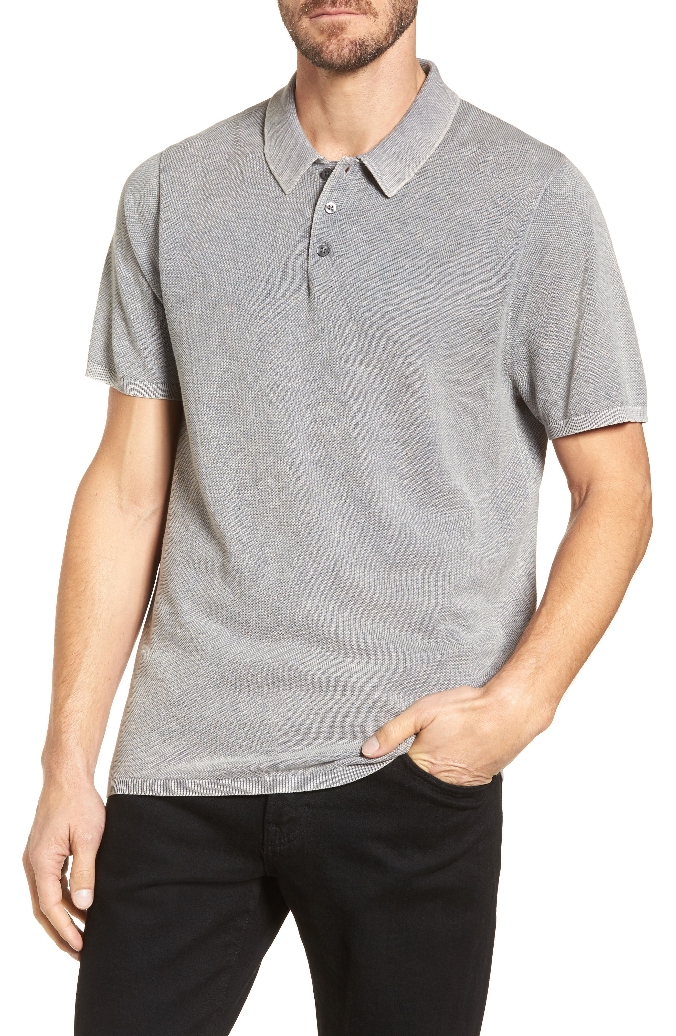 Washed Piqué Polo,                         Main,                         color, 050