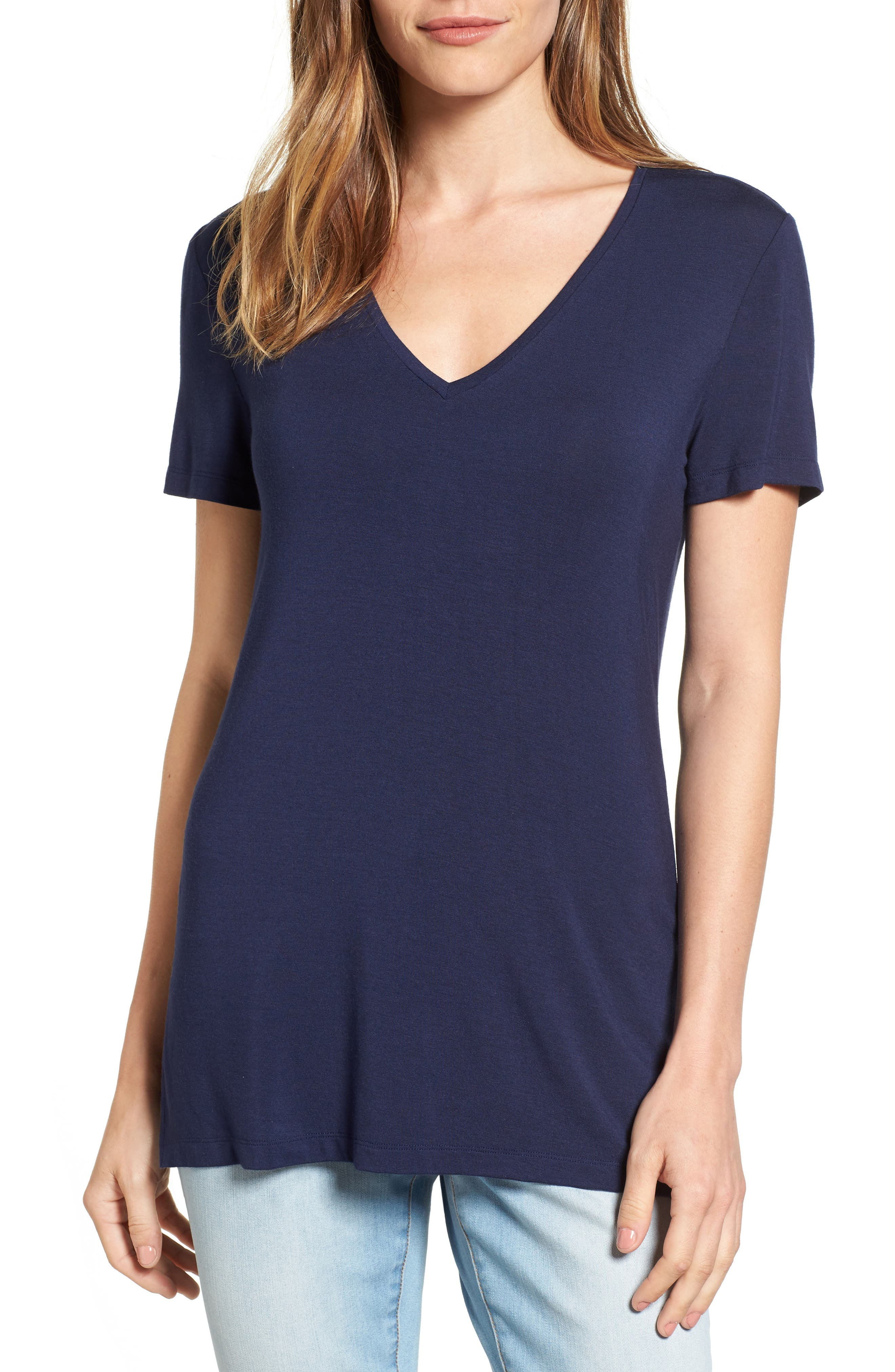 V-Neck Tunic Tee,                             Main thumbnail 9, color,