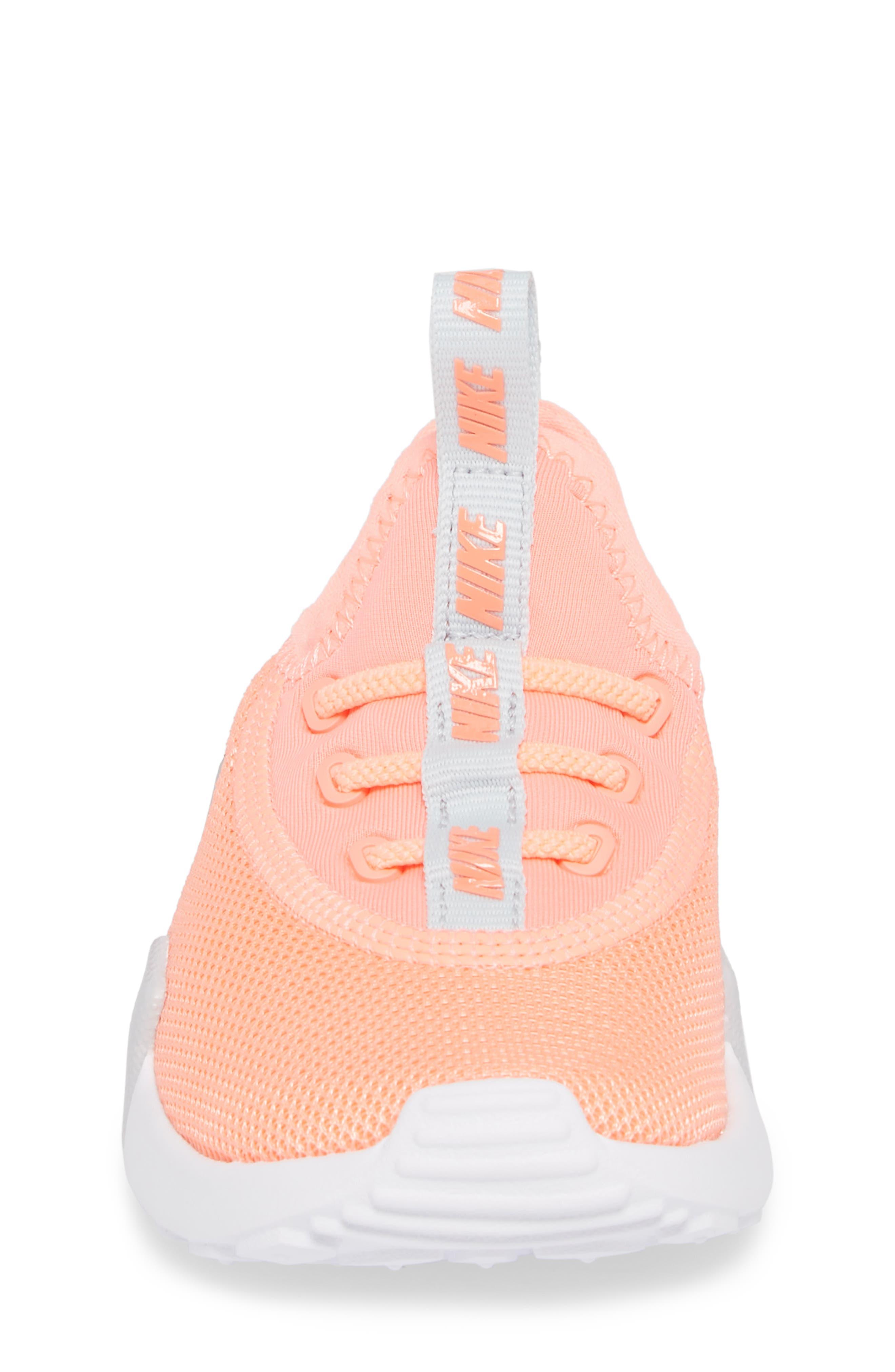 Ashin Modern Sock Knit Sneaker,                             Alternate thumbnail 4, color,                             ATOMIC PINK/ METALLIC SILVER