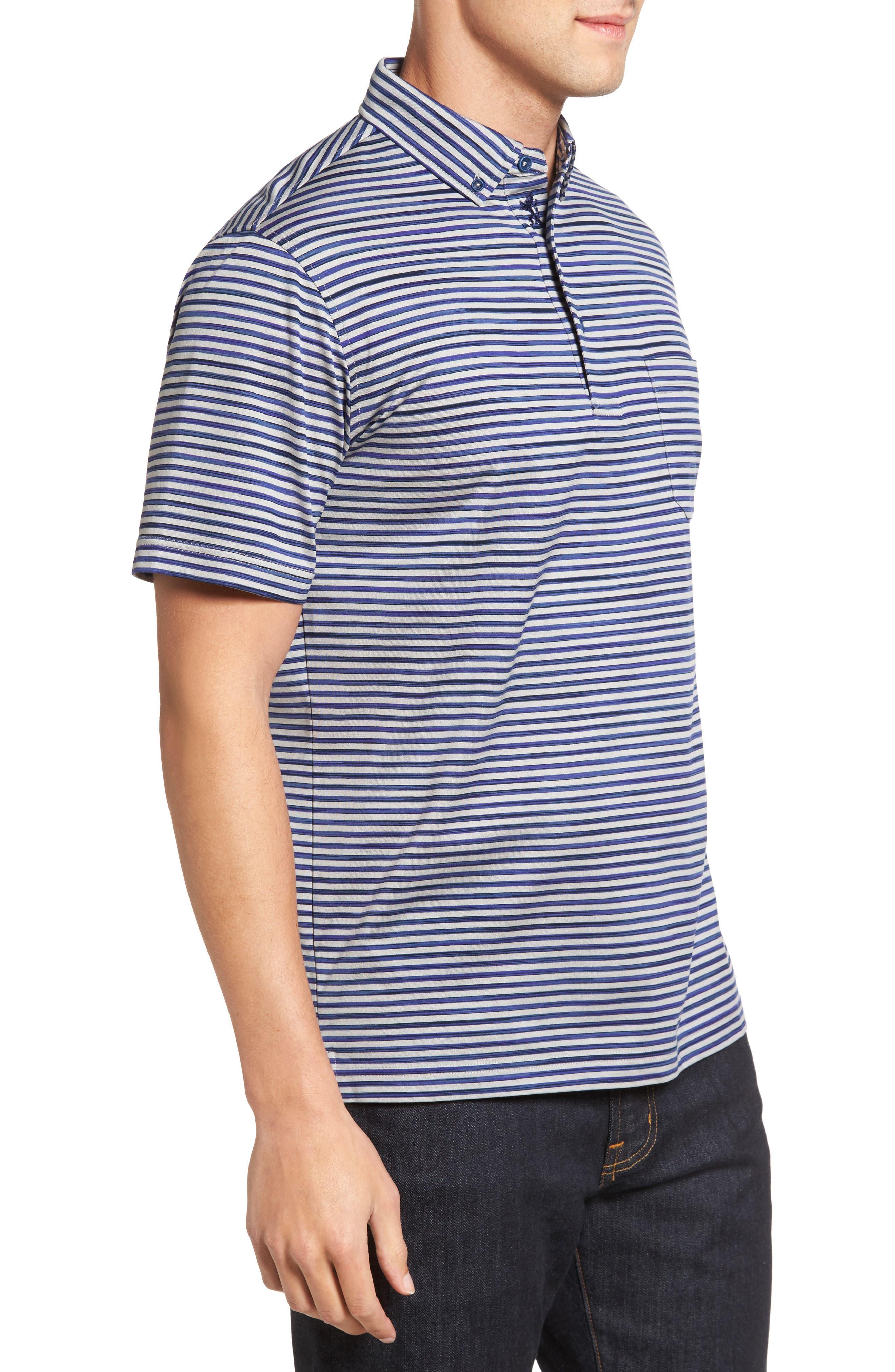Stripe Jersey Polo,                             Alternate thumbnail 3, color,                             020