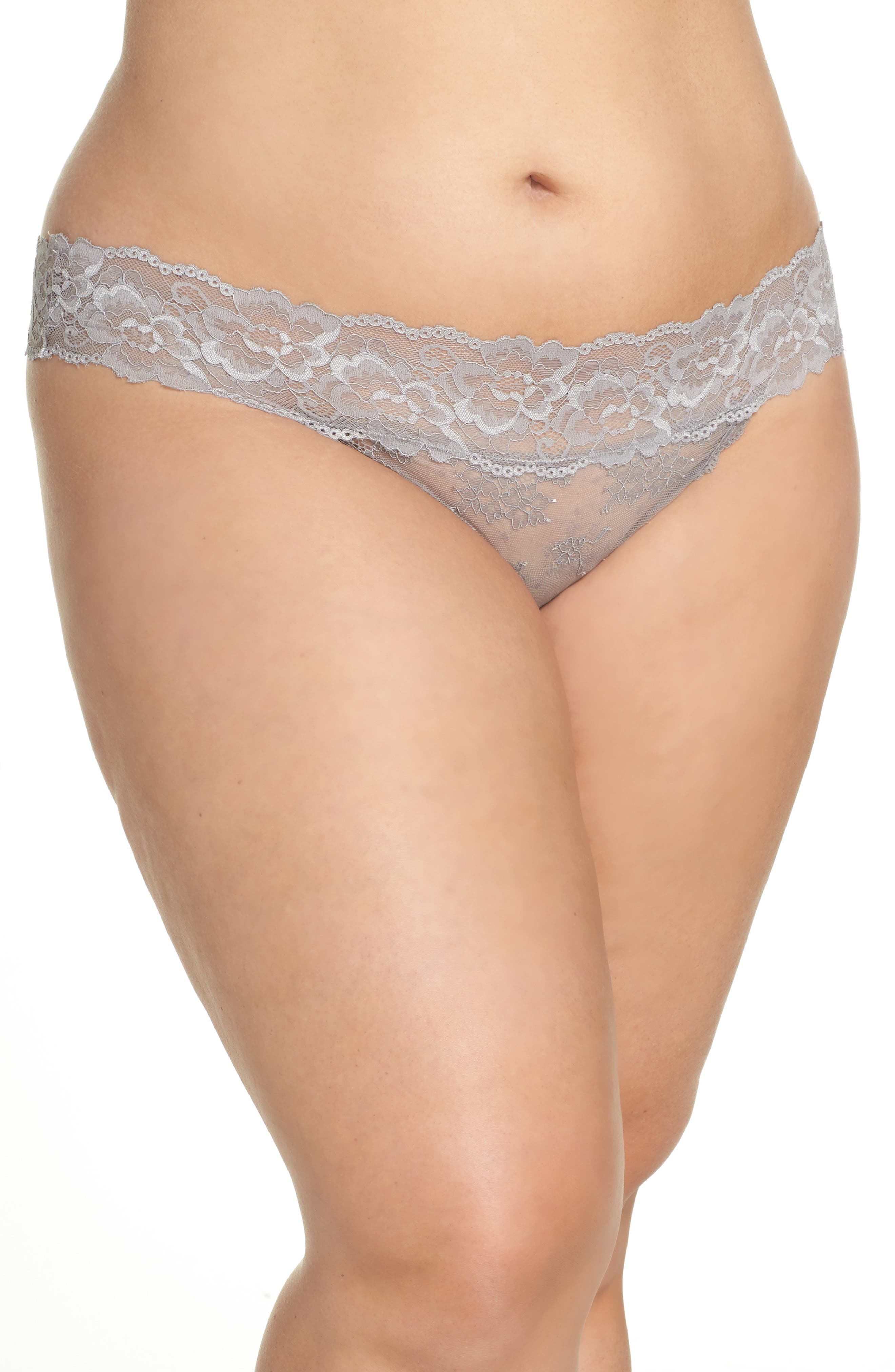 Honeydew Lace Thong,                             Alternate thumbnail 49, color,