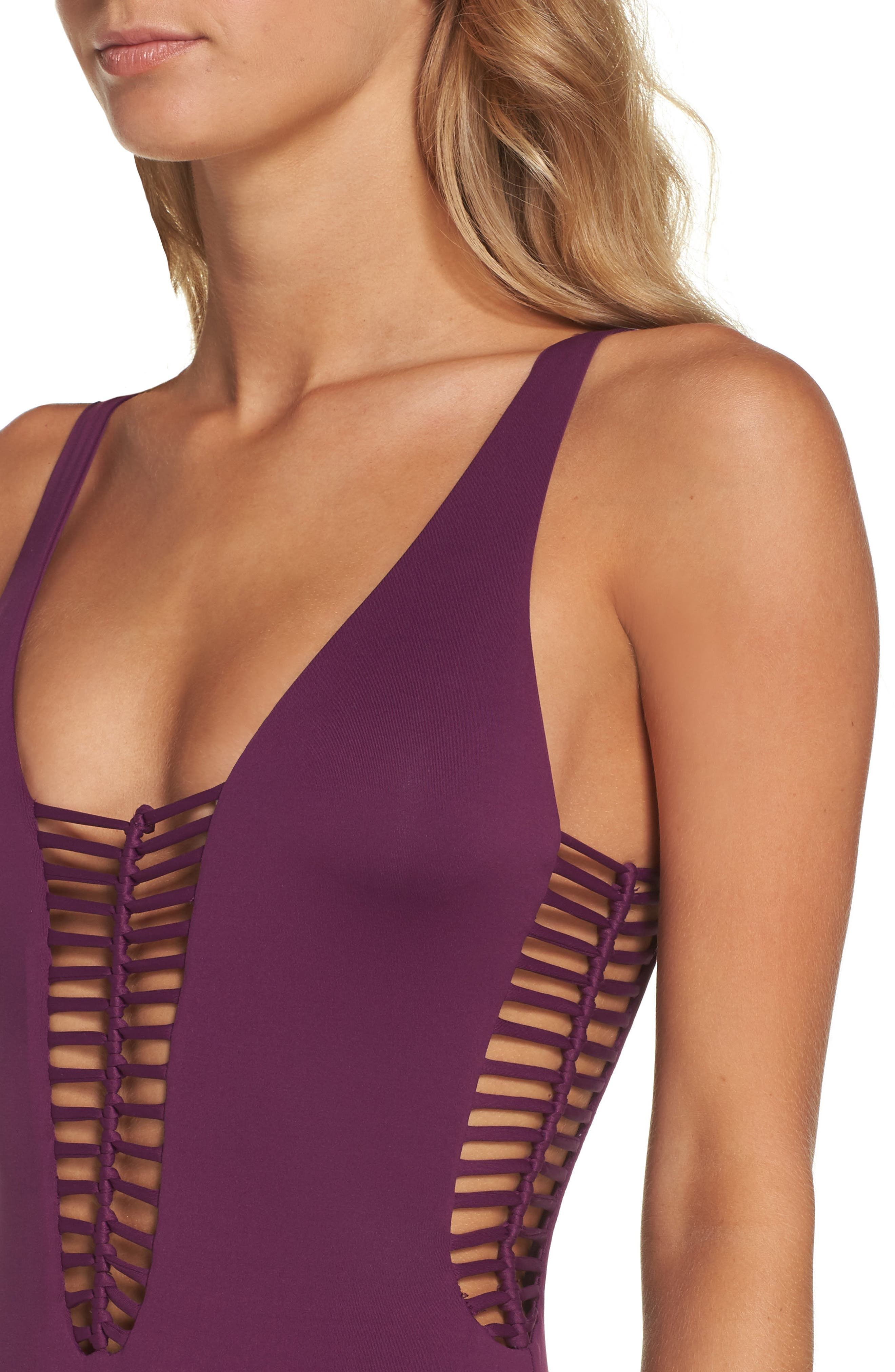 No Strings Attached One-Piece Swimsuit,                             Alternate thumbnail 8, color,