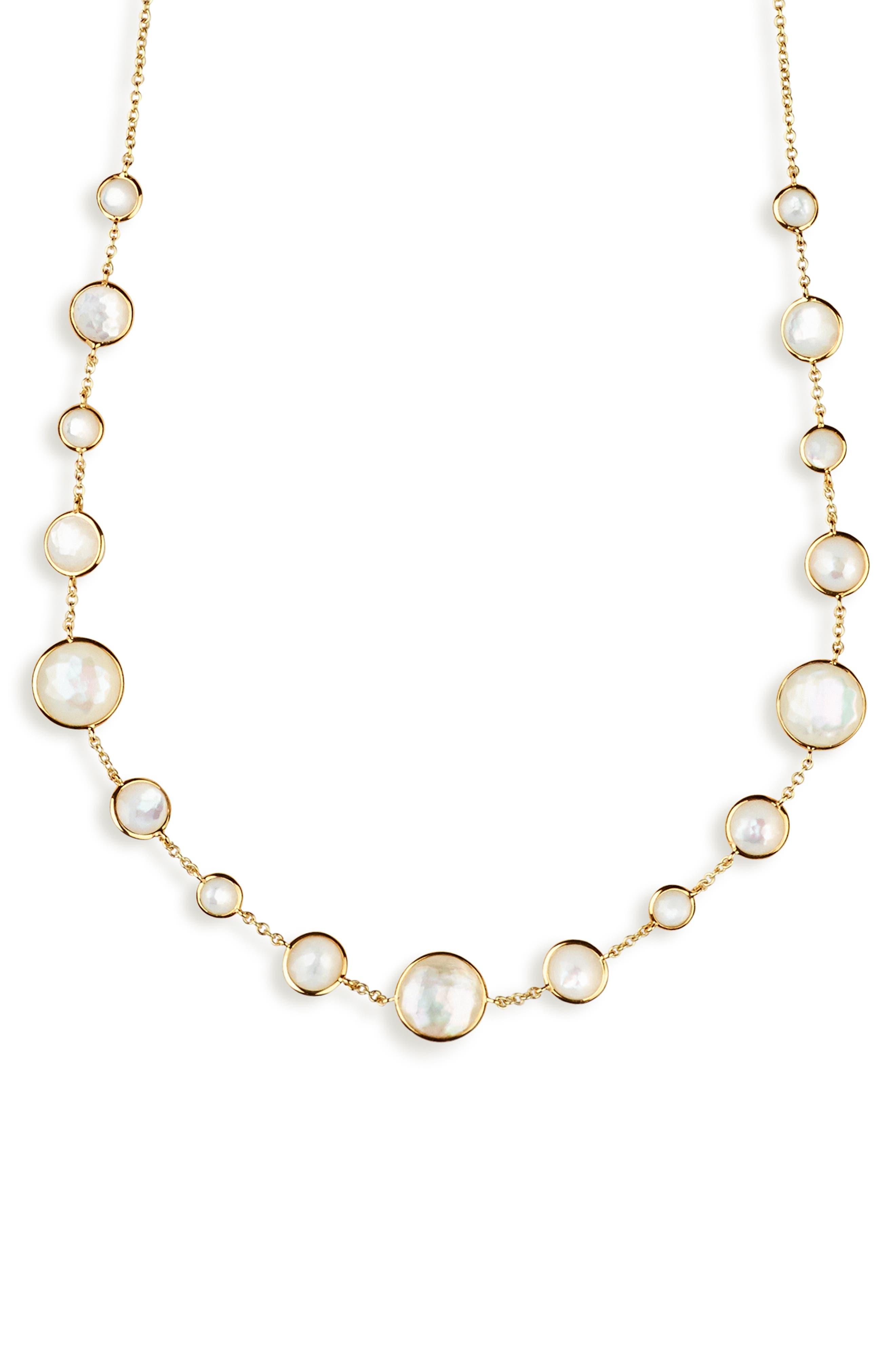 Lollipop Lollitini Necklace,                             Alternate thumbnail 2, color,                             GOLD/ PEARLS