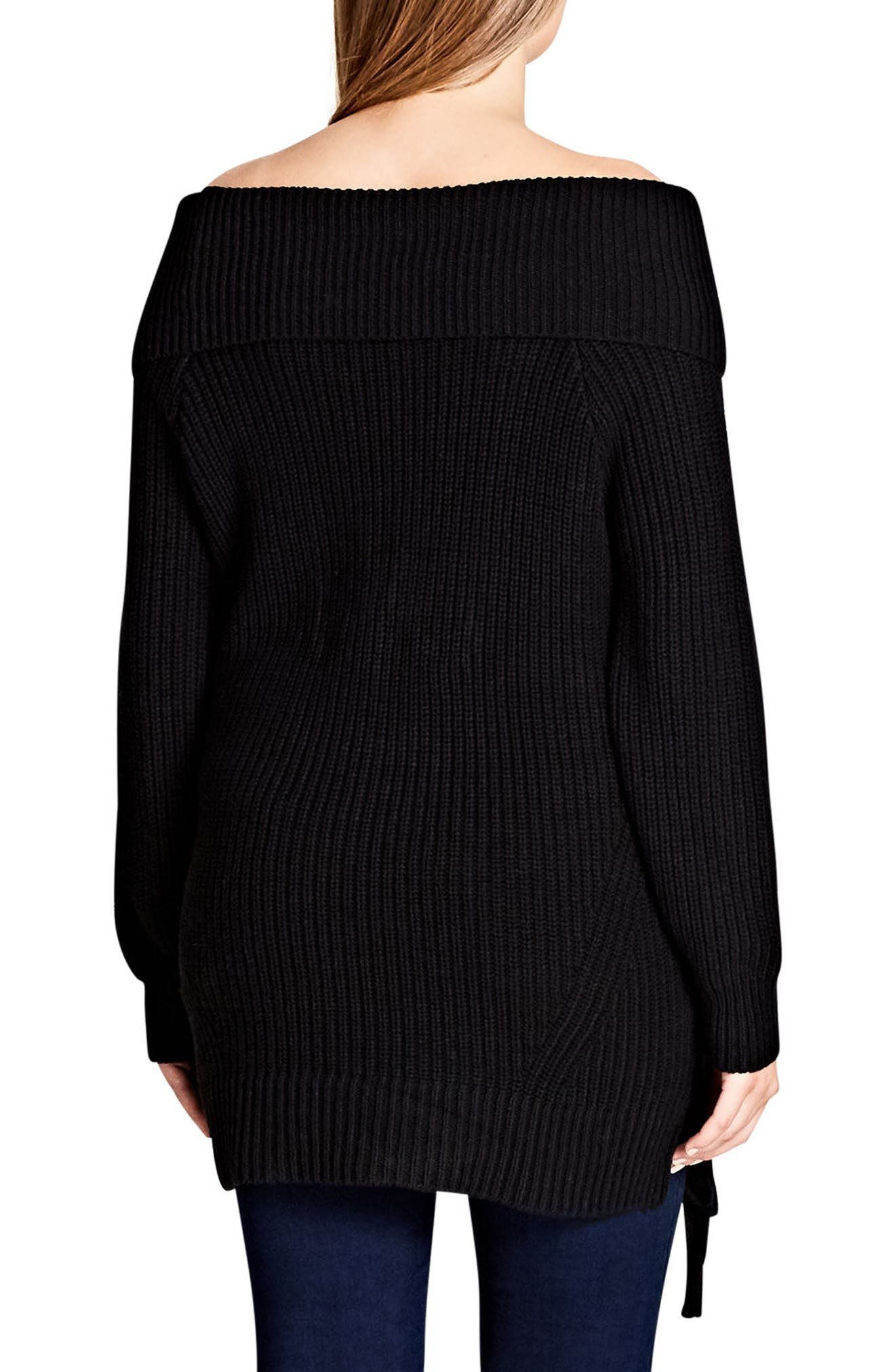 Intertwine Convertible Lace-Up Pullover,                             Alternate thumbnail 4, color,