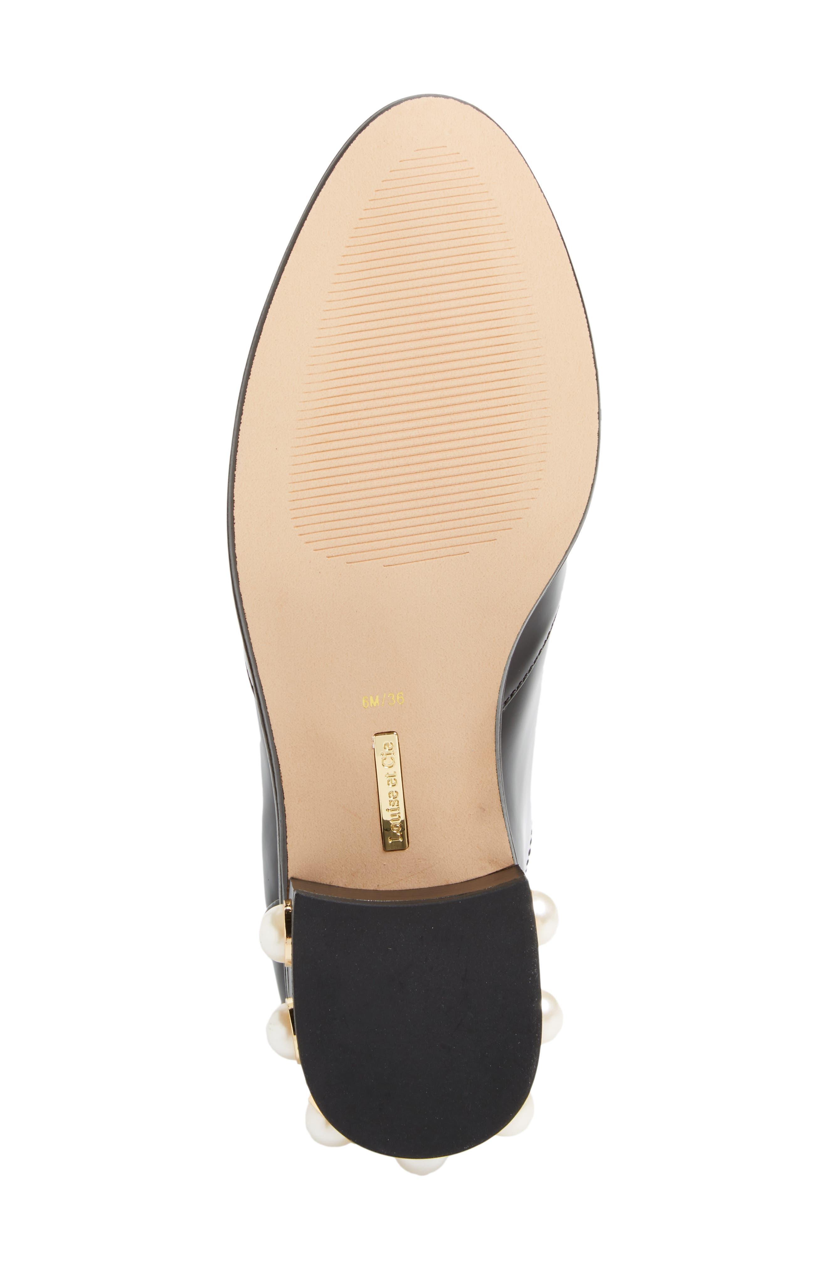 Franley Embellished Heel Oxford,                             Alternate thumbnail 6, color,                             001