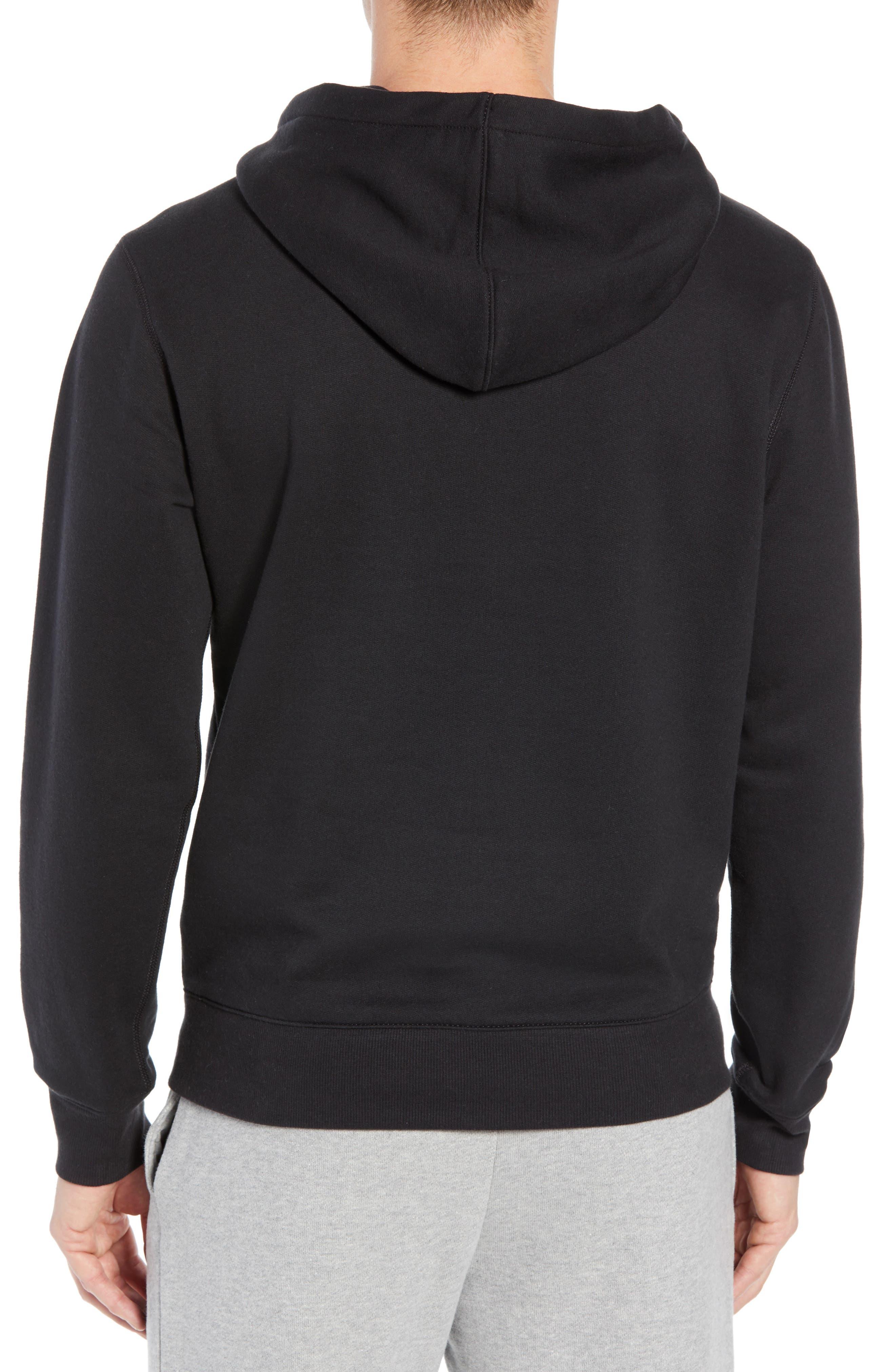 Logo Hoodie Sweatshirt,                             Alternate thumbnail 2, color,                             BLACK