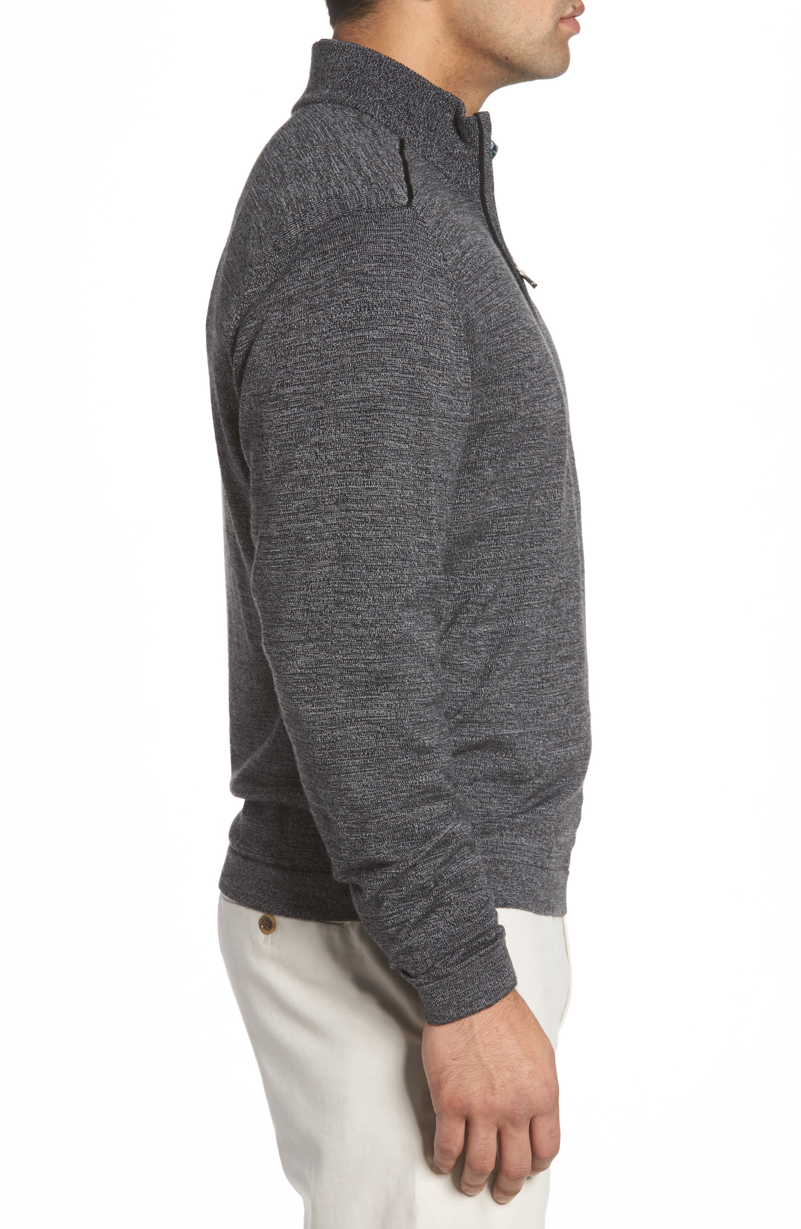 Henry Quarter-Zip Pullover Sweater,                             Alternate thumbnail 3, color,                             001