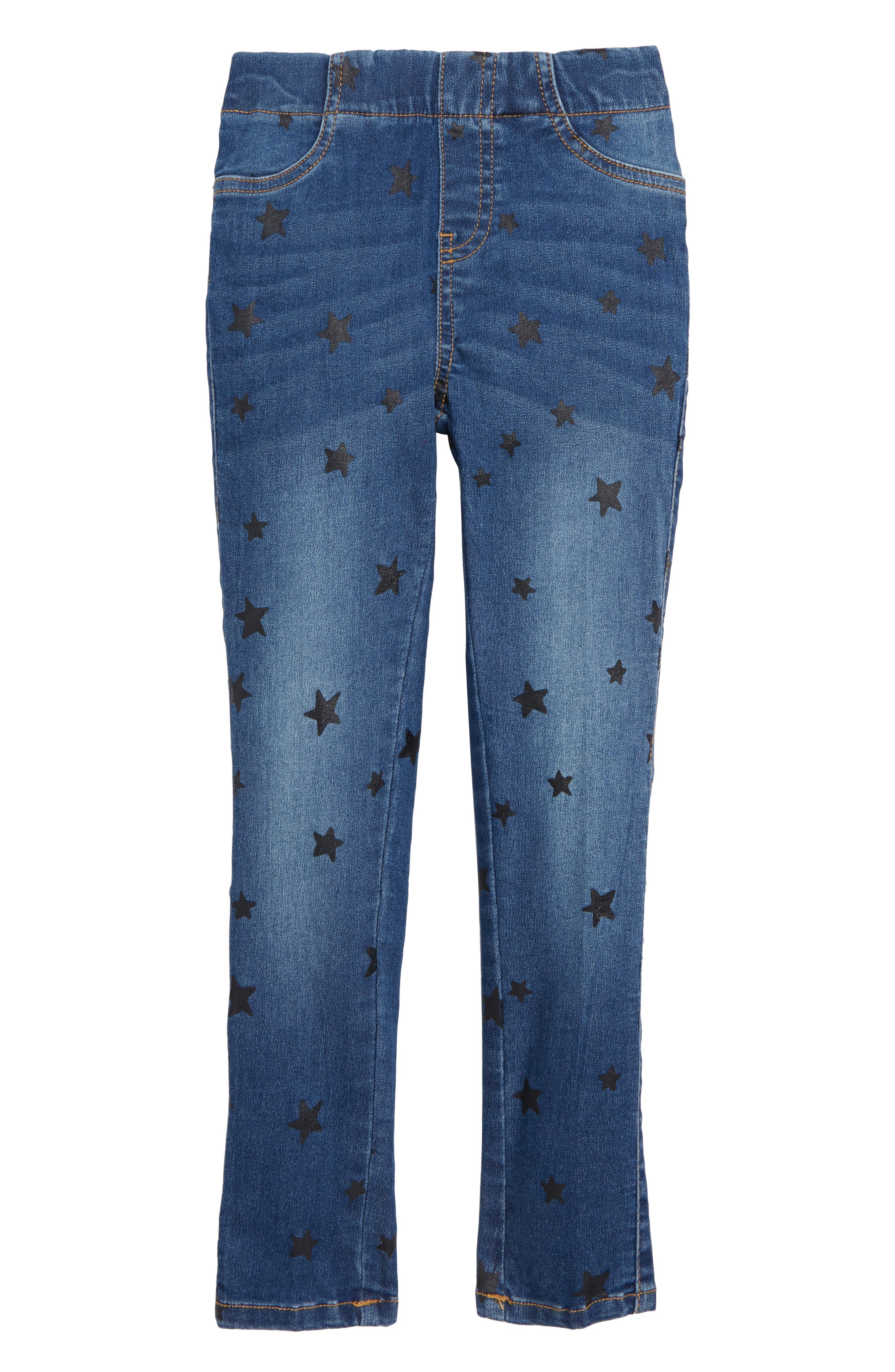 Print Jeggings,                         Main,                         color, INDIGO WASH STARS