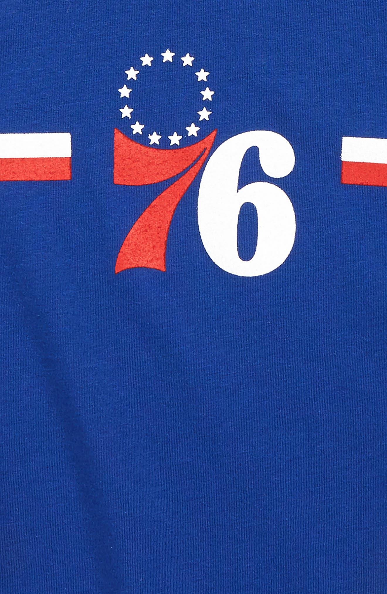 Philadelphia 76ers Dri-FIT T-Shirt,                             Alternate thumbnail 2, color,                             RUSH BLUE